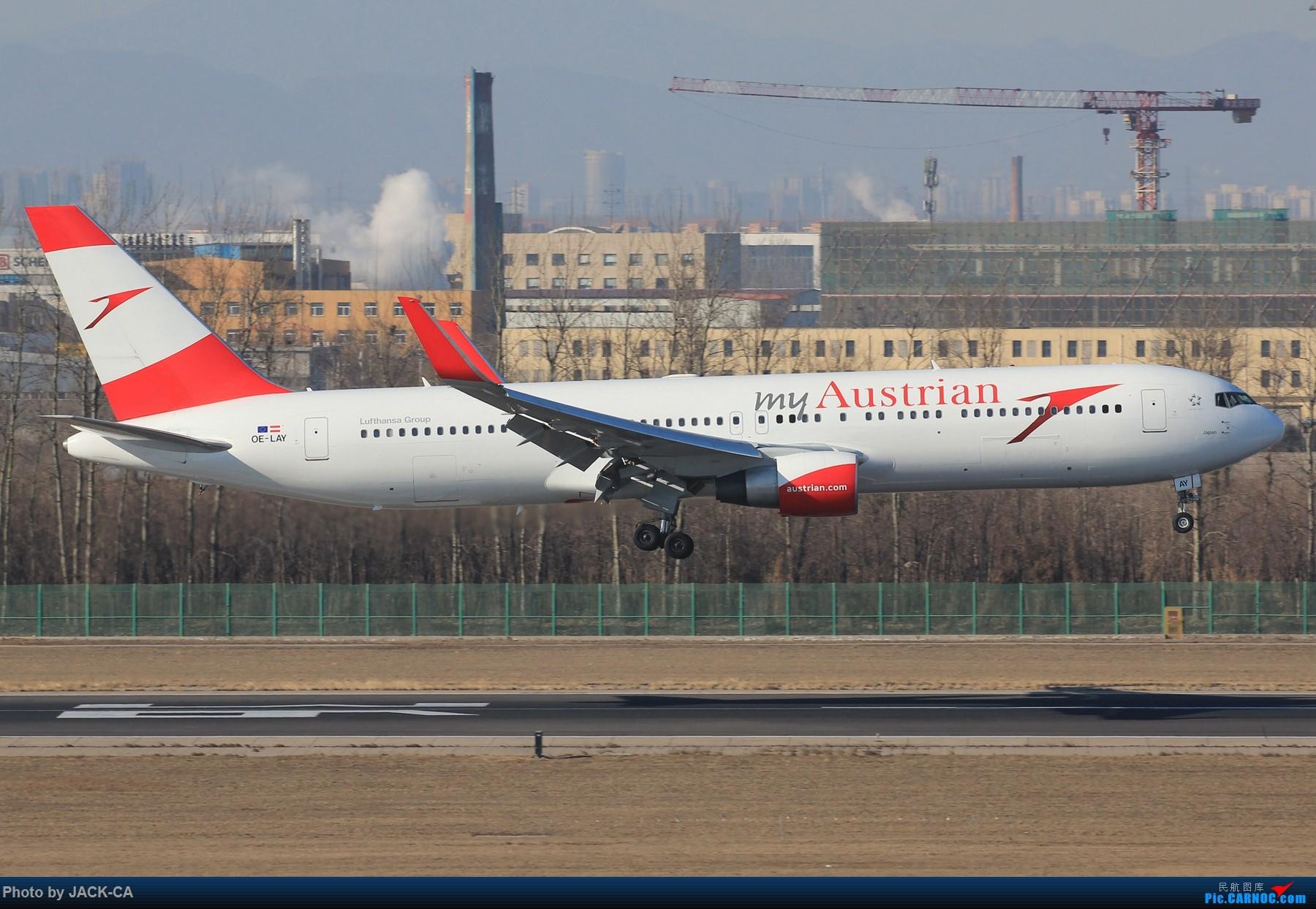 Re:[原创]【组图】北京拍机之格林豪泰视角 BOEING 767-300ER OE-LAY 中国北京首都国际机场