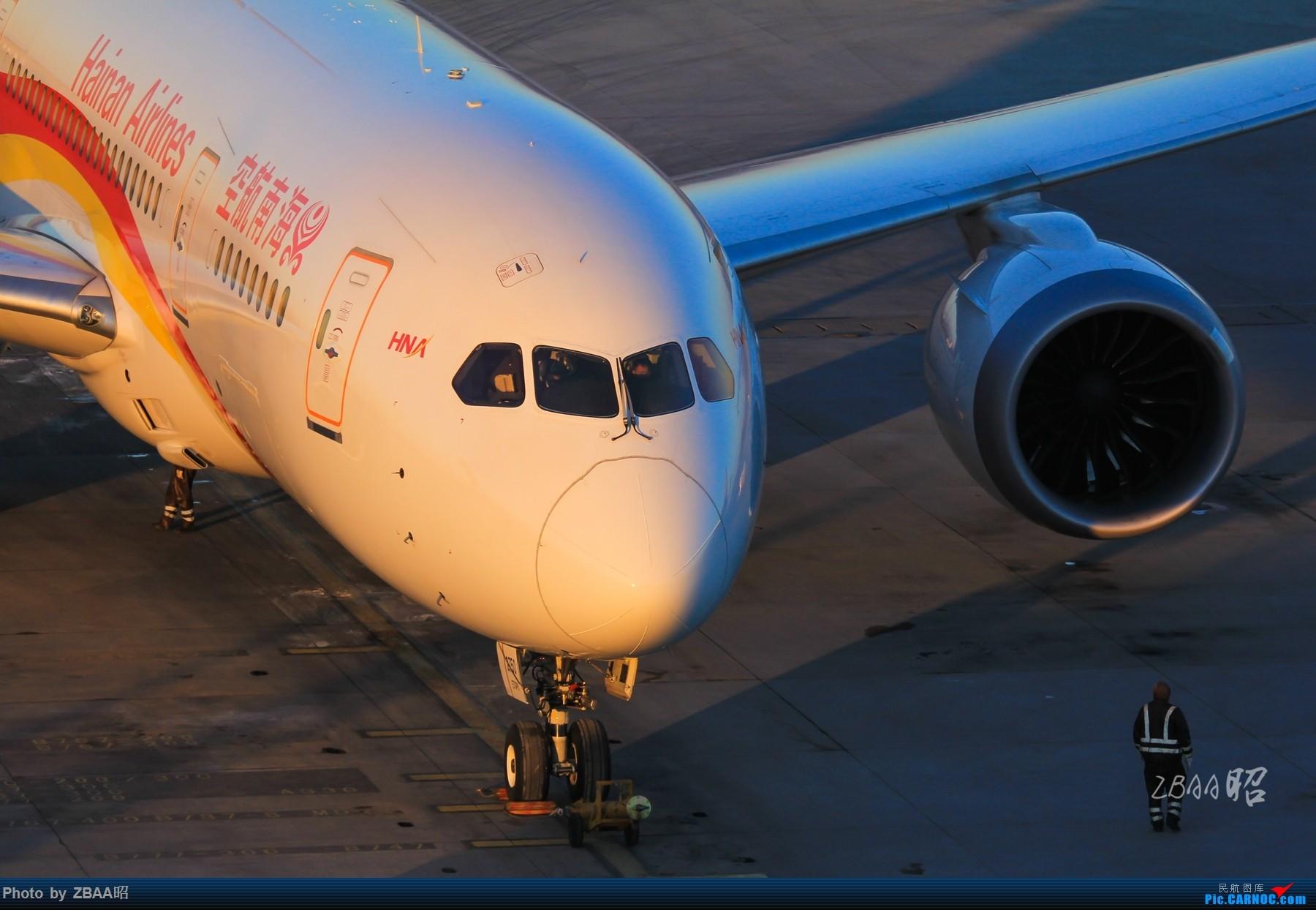 [原创]朝阳之下的海南航空787,一种唯美。 BOEING 787-8 B-2750 中国北京首都国际机场