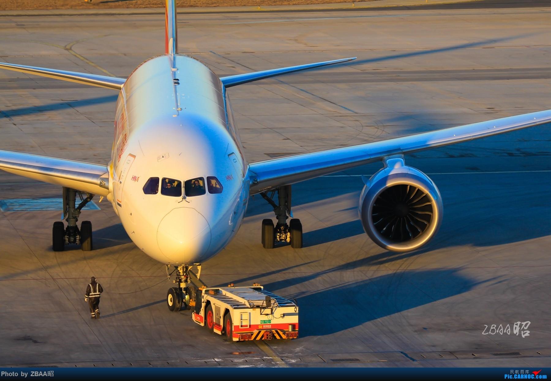 Re:[原创]朝阳之下的海南航空787,一种唯美。 BOEING 787-8 B-2750 中国北京首都国际机场