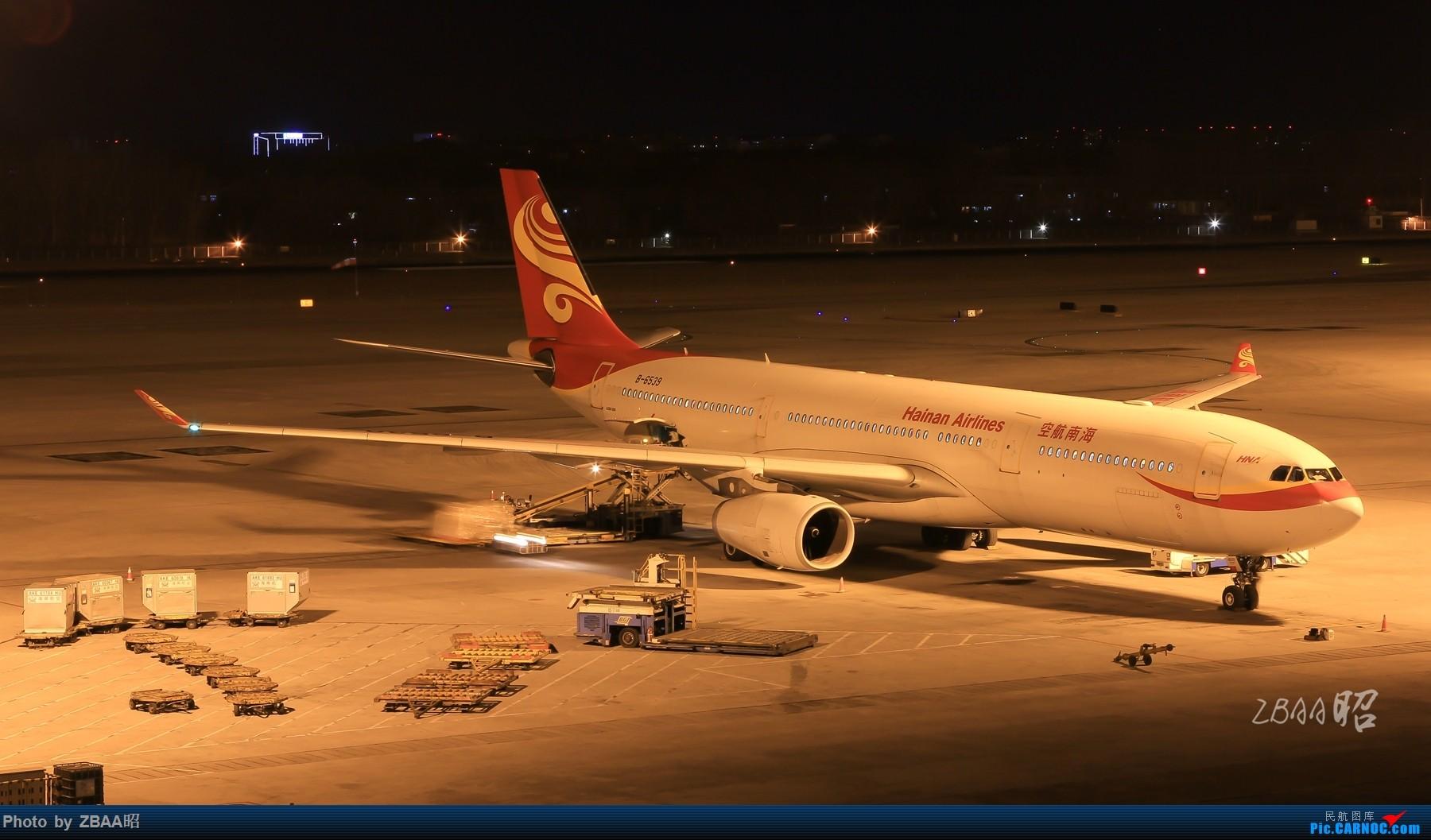[原创]飞友聚会后的独自疯狂,格林豪泰隔天怒打ZBAA 36L跑道,夜拍海航宽体机,寒风中坚守楼顶阵地 AIRBUS A330-300 B-6539 中国北京首都国际机场