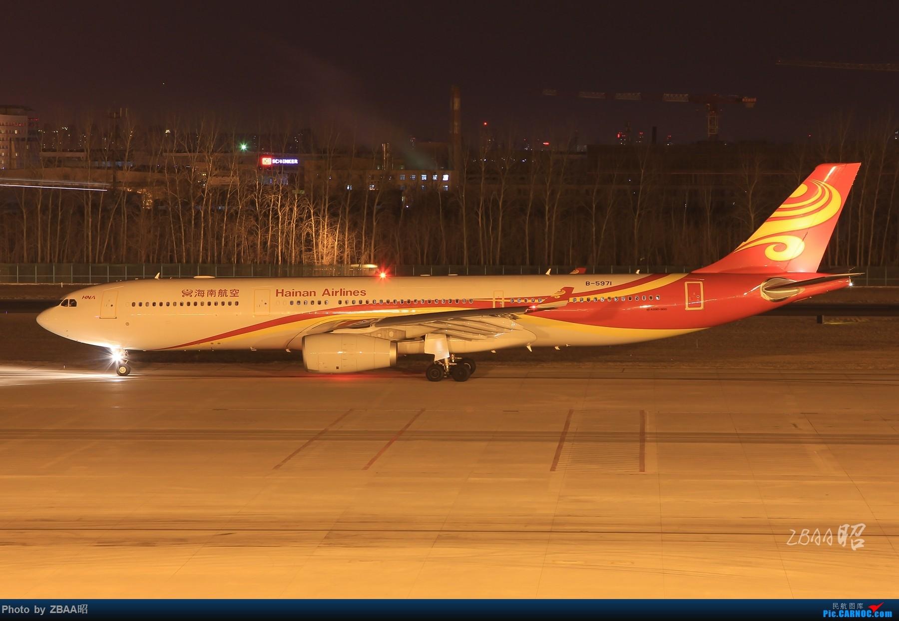 Re:[原创]飞友聚会后的独自疯狂,格林豪泰隔天怒打ZBAA 36L跑道,夜拍海航宽体机,寒风中坚守楼顶阵地 AIRBUS A330-300 B-5971 中国北京首都国际机场
