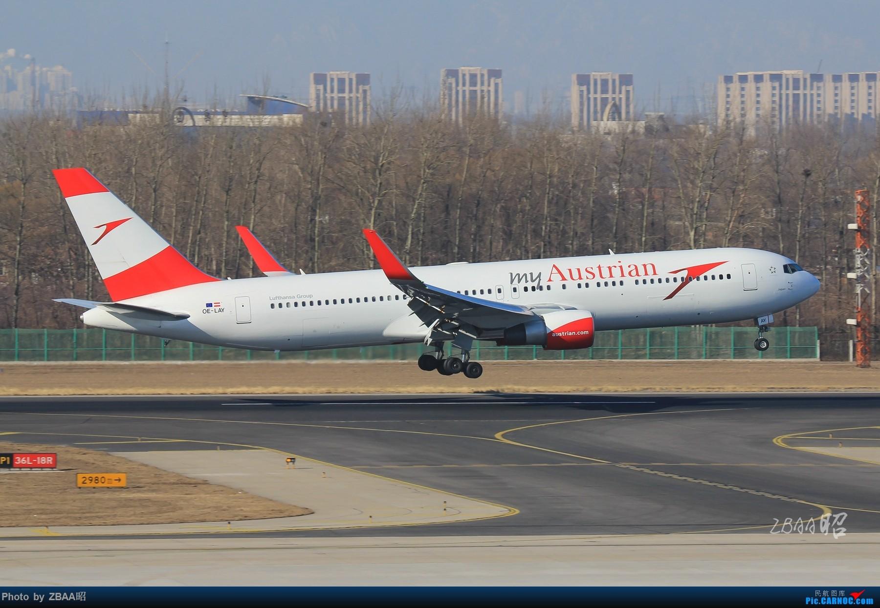 Re:[原创]飞友聚会后的独自疯狂,格林豪泰隔天怒打ZBAA 36L跑道,夜拍海航宽体机,寒风中坚守楼顶阵地 BOEING 767-300ER OE-LAY 中国北京首都国际机场