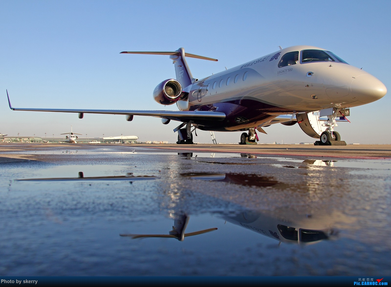 [原创]【TSN天津飞友会】亚洲首架莱格赛500加入耀莱航空! EMBRAER LEGACY 500 B-3385 中国天津滨海国际机场