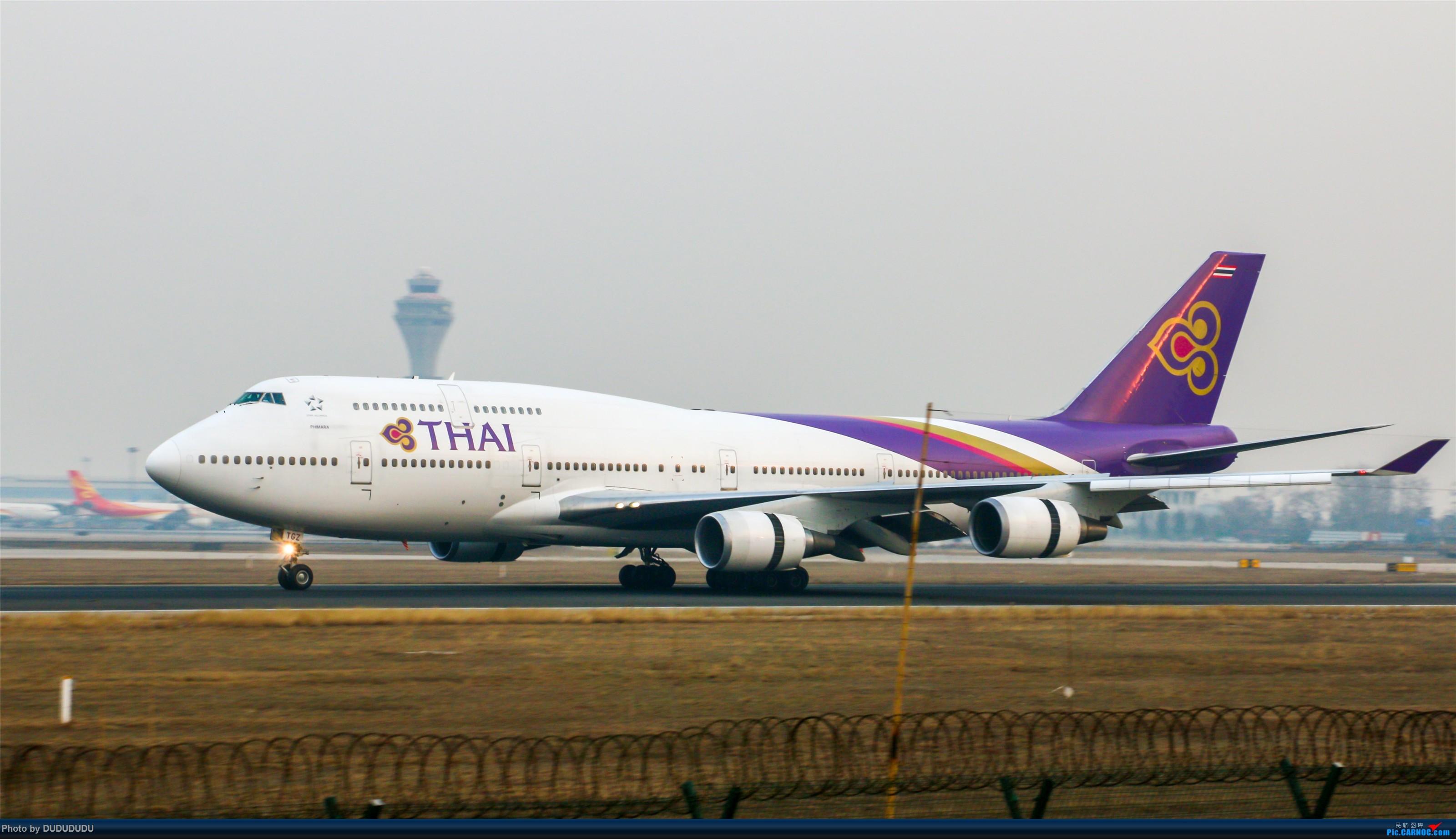 Re:[原创]【DUDUDUDU】从小白走来的这一年…… BOEING 747-400 HS-TGZ 中国北京首都国际机场