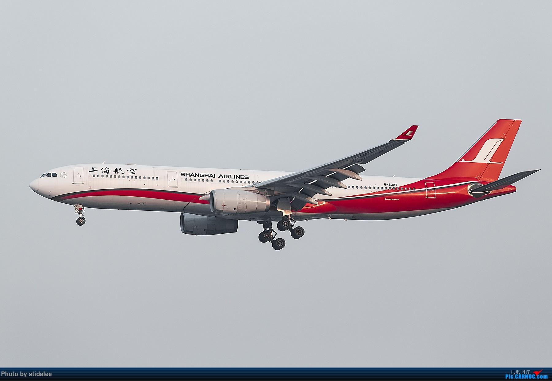 [原创]SHA拍机 各种地主上航飞机 最喜欢的涂装 AIRBUS A330-300 B-6097 中国上海虹桥国际机场