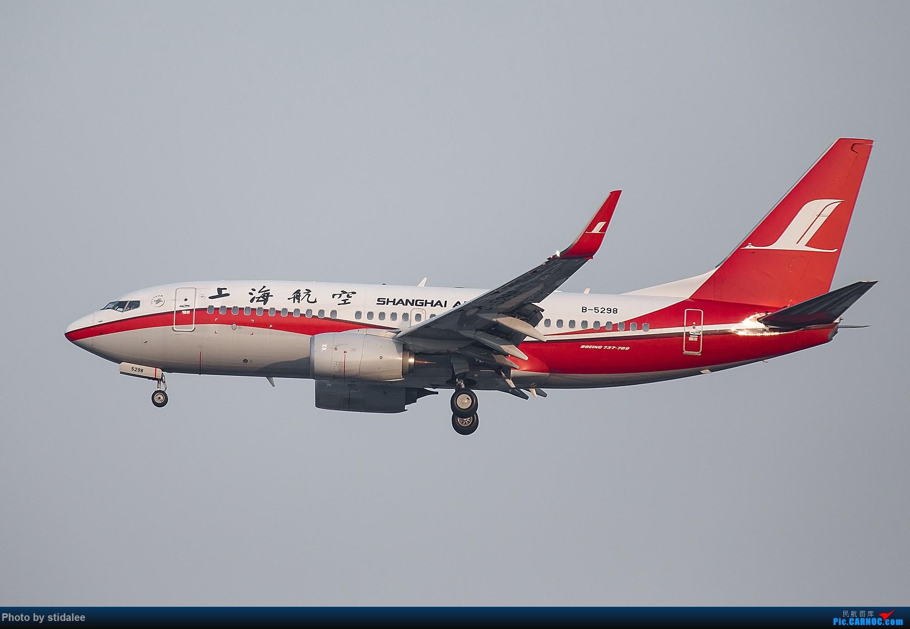 Re:[原创]SHA拍机 各种地主上航飞机 最喜欢的涂装 BOEING 737-700 B-5298 中国上海虹桥国际机场