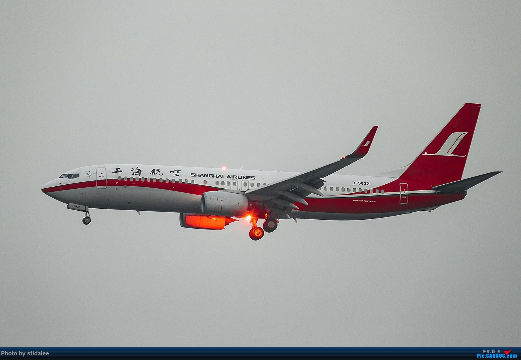 Re:[原创]SHA拍机 各种地主上航飞机 最喜欢的涂装 BOEING 737-800 B-5832 中国上海虹桥国际机场