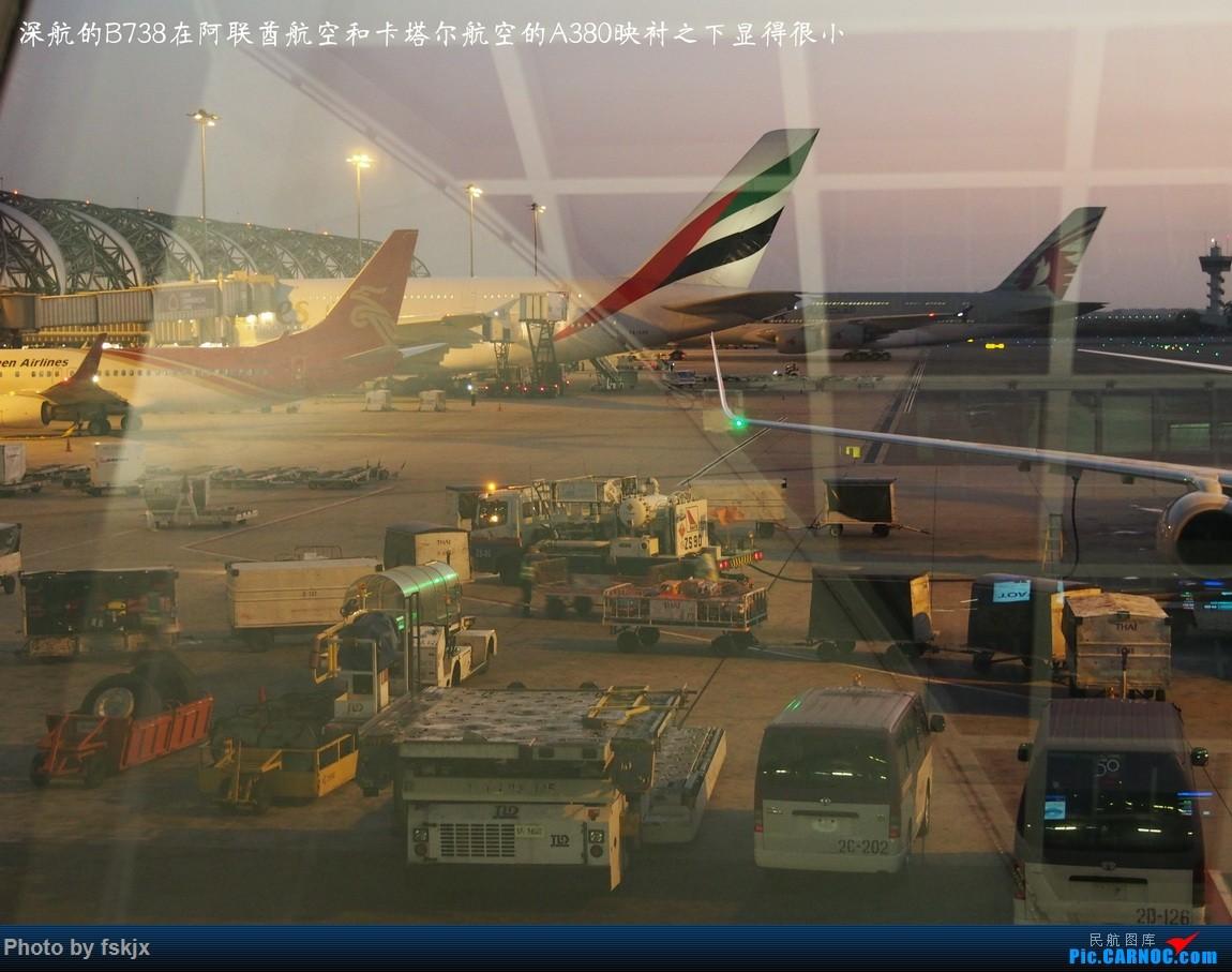 【fskjx的飞行游记☆25】慢游曼谷 BOEING 737-800  泰国曼谷素万那普国际机场