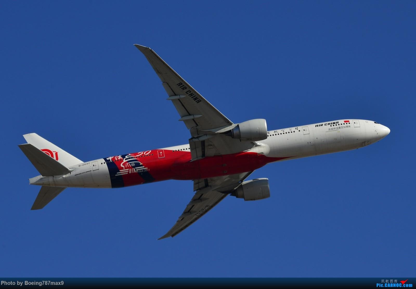 Re:[原创]【PEK】今日东停车场蹲点,好货一堆。KLM744、DELTA763、国航星空332、国航748、最重要的是朝鲜的图204、还有国航中法50年77W、汉莎346 BOEING 777-300ER B-2047 中国北京首都国际机场