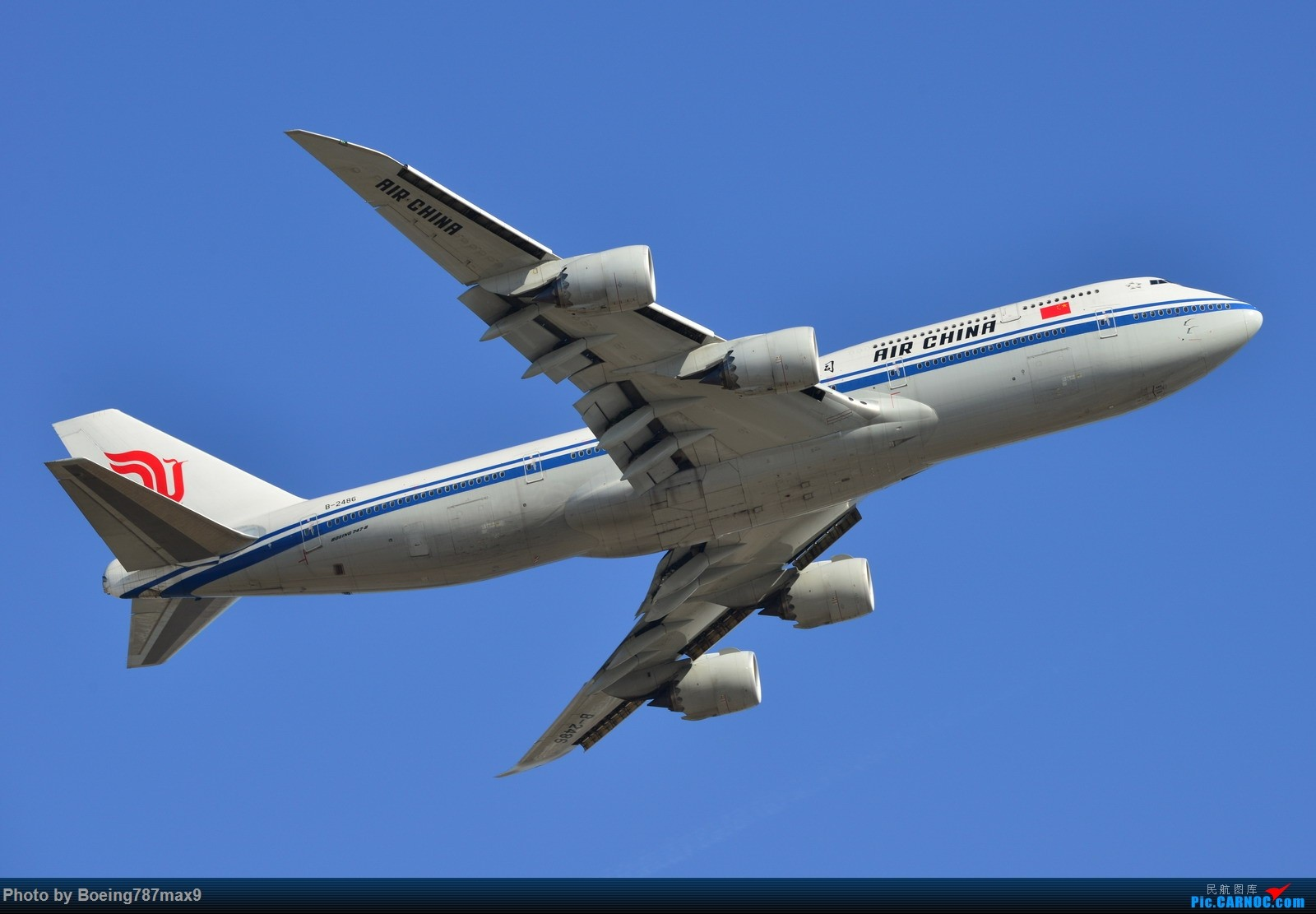 Re:[原创]【PEK】今日东停车场蹲点,好货一堆。KLM744、DELTA763、国航星空332、国航748、最重要的是朝鲜的图204、还有国航中法50年77W、汉莎346 BOEING 747-8I B-2486 中国北京首都国际机场