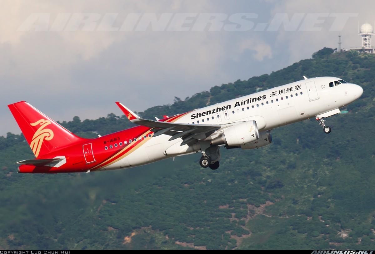 [原创]一图党——新年好,新年红红火火,展翅高飞 AIRBUS A320-200 B-1683 中国深圳宝安国际机场