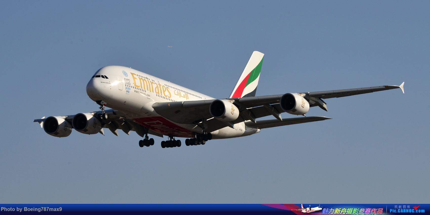 Re:[原创]【PEK】好天奔赴首都机场,好天好货!!!阿航388、海航788、联邦77F、国航744、UA744 AIRBUS A380-800 A6-AED 中国北京首都国际机场