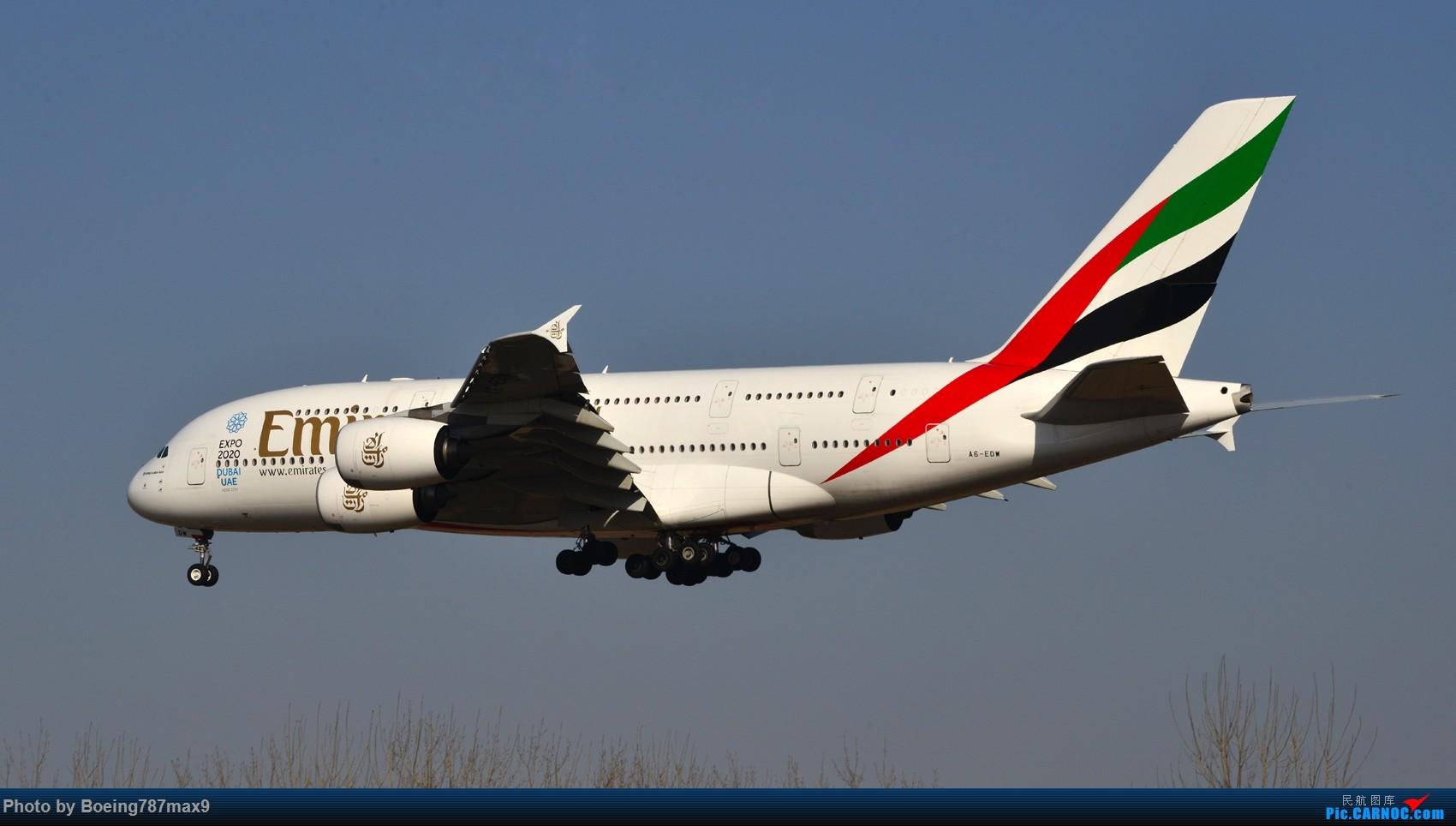 Re:[原创]【PEK】好天奔赴首都机场,好天好货!!!阿航388、海航788、联邦77F、国航744、UA744 AIRBUS A380-800 A6-EDW 中国北京首都国际机场