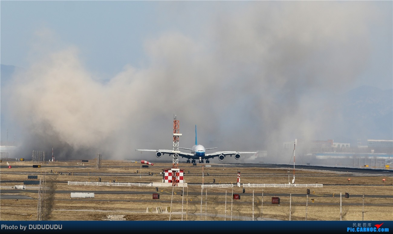 Re:[原创]【DUDUDUDU】年前年后,蓝天下的PEK AIRBUS A380 B-6136 中国北京首都国际机场