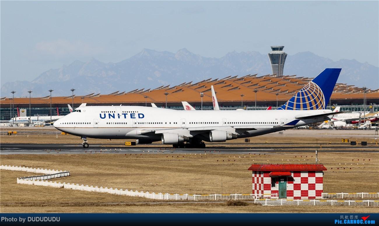 Re:[原创]【DUDUDUDU】年前年后,蓝天下的PEK BOEING 747-400 N181UA 中国北京首都国际机场