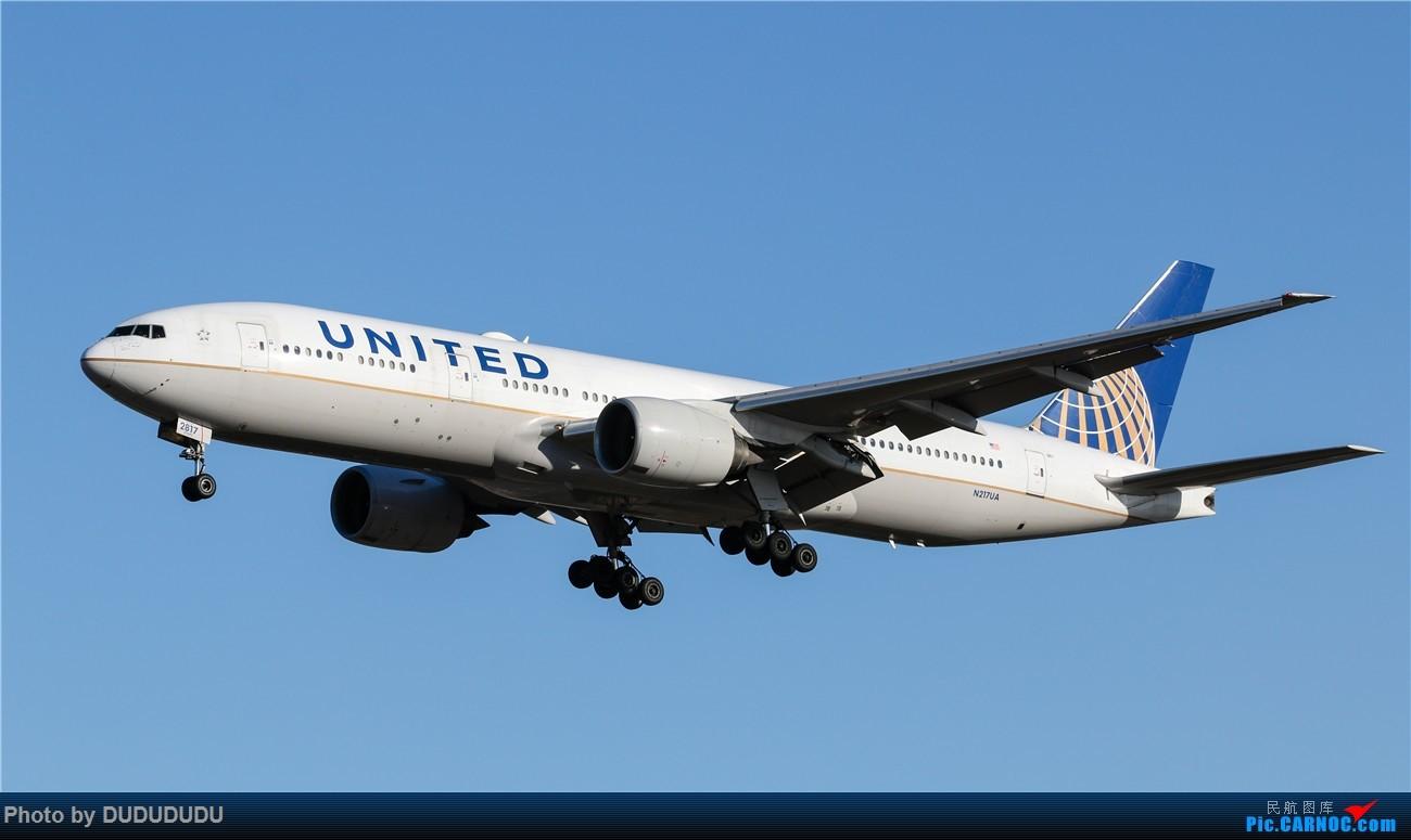 Re:[原创]【DUDUDUDU】年前年后,蓝天下的PEK BOEING 777-200ER N217UA 中国北京首都国际机场