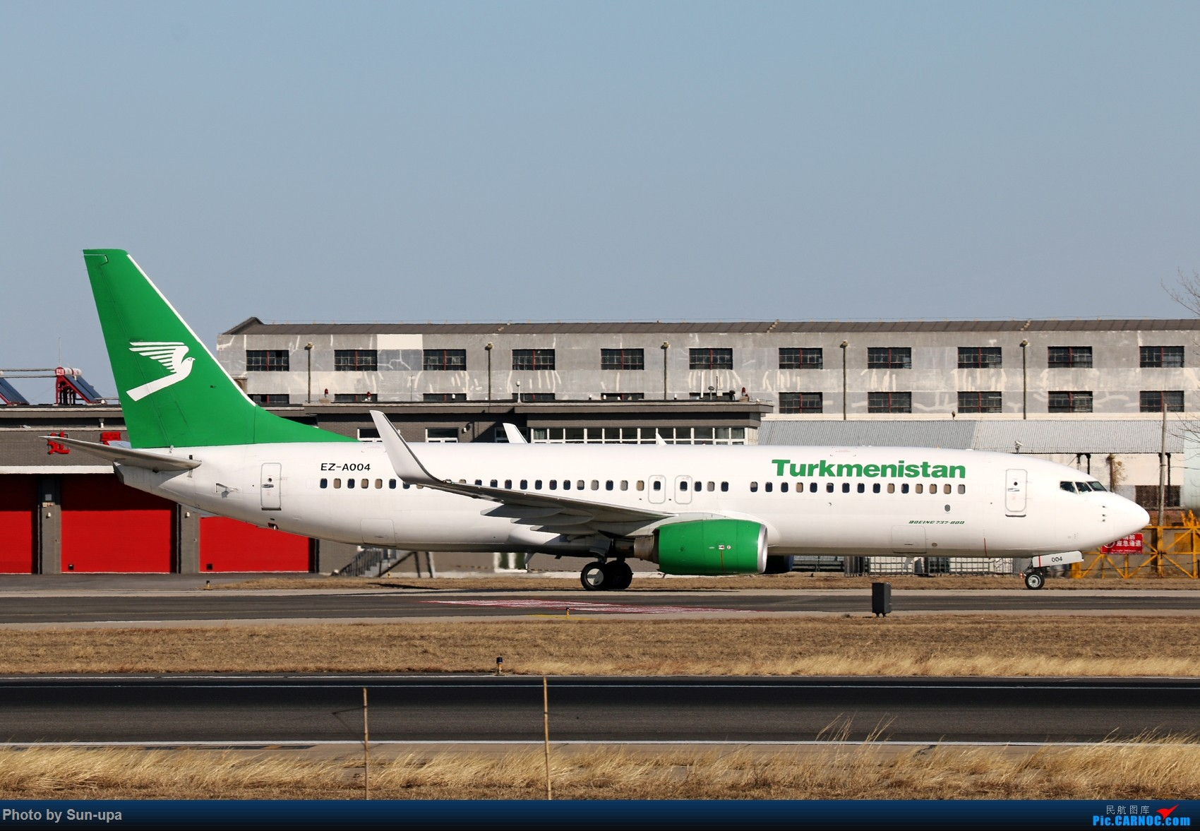 [原创]一张图 土库曼斯坦737-82K ZBAA 36L BOEING 737-800 EZ-A004 中国北京首都国际机场