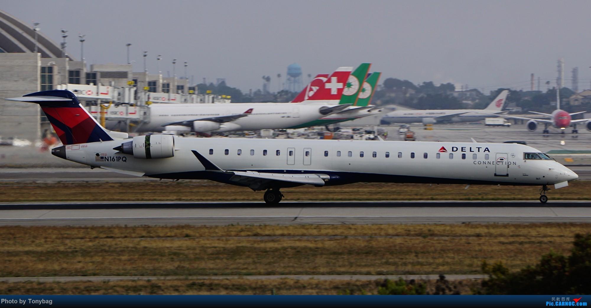 【LAX】美国达美航空 CRJ-900ER N161PQ BOMBARDIER CRJ-900 N161PQ 洛杉矶国际机场
