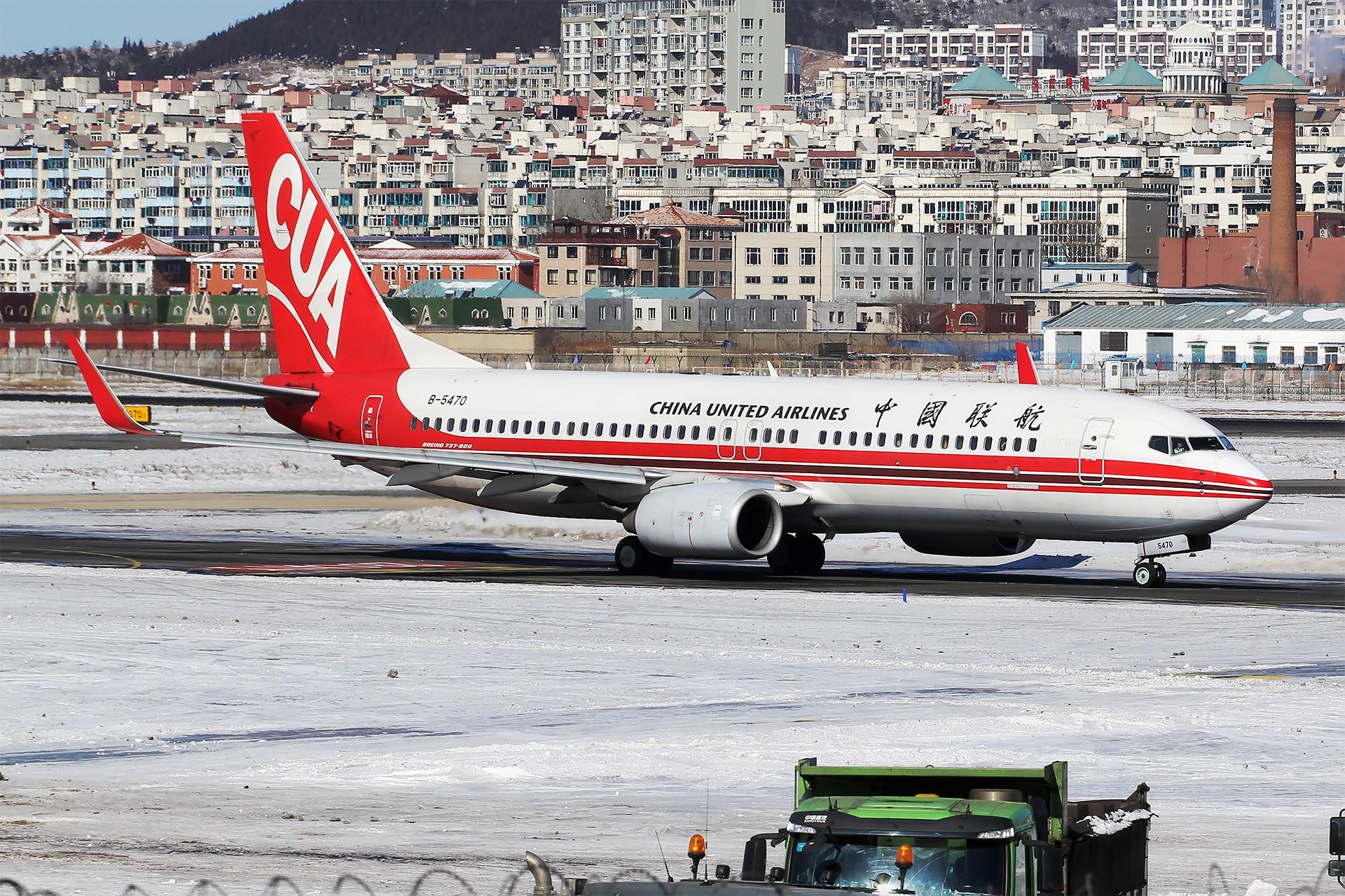 Re:[原创][原创][DLC]。。。DLC雪。。。 BOEING 737-800 B-5470 中国大连国际机场