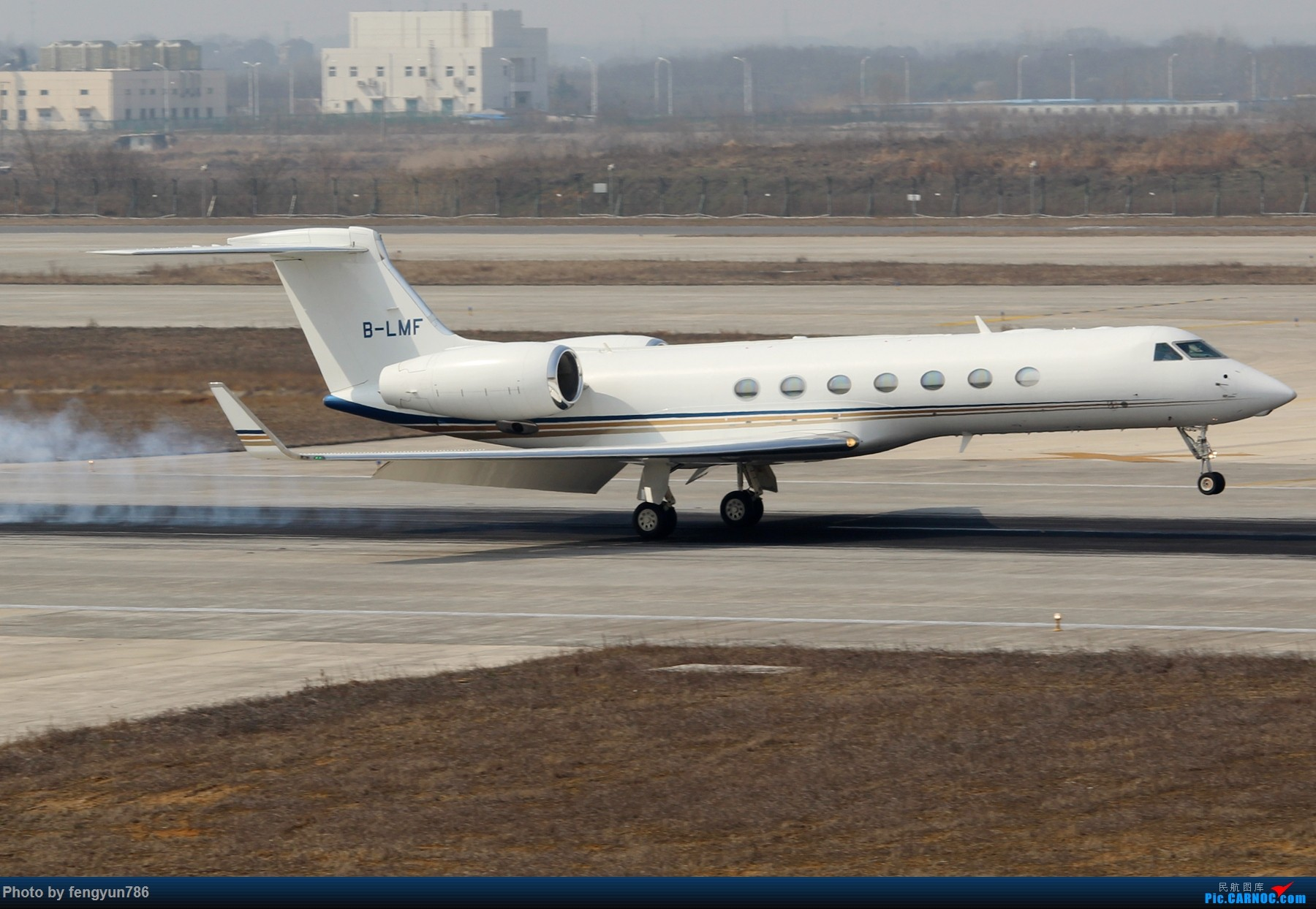Re:[原创]NKG跑道边两小时,擦烟反推,星星邮戳都有了 GULFSTREAM G550 B-LMF 中国南京禄口国际机场