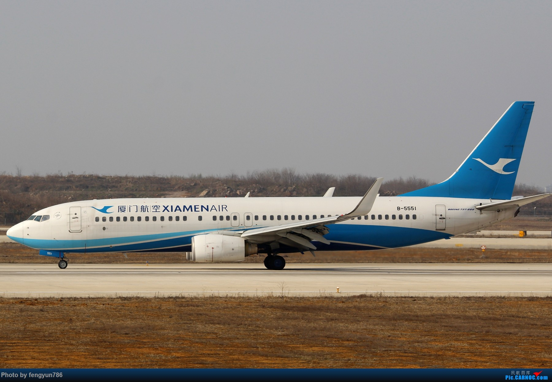 Re:NKG跑道边两小时,擦烟反推,星星邮戳都有了 BOEING 737-800 B-5551 中国南京禄口国际机场