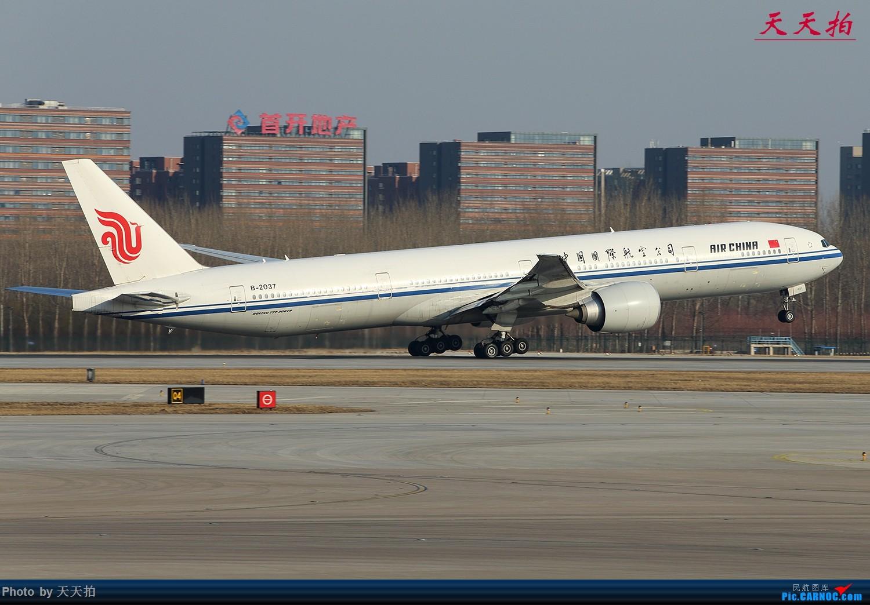 Re:春季北京首都国际机场将迎来大风天气南风增大往南飞机运行较多 BOEING 777-300ER B-2037 中国北京首都国际机场