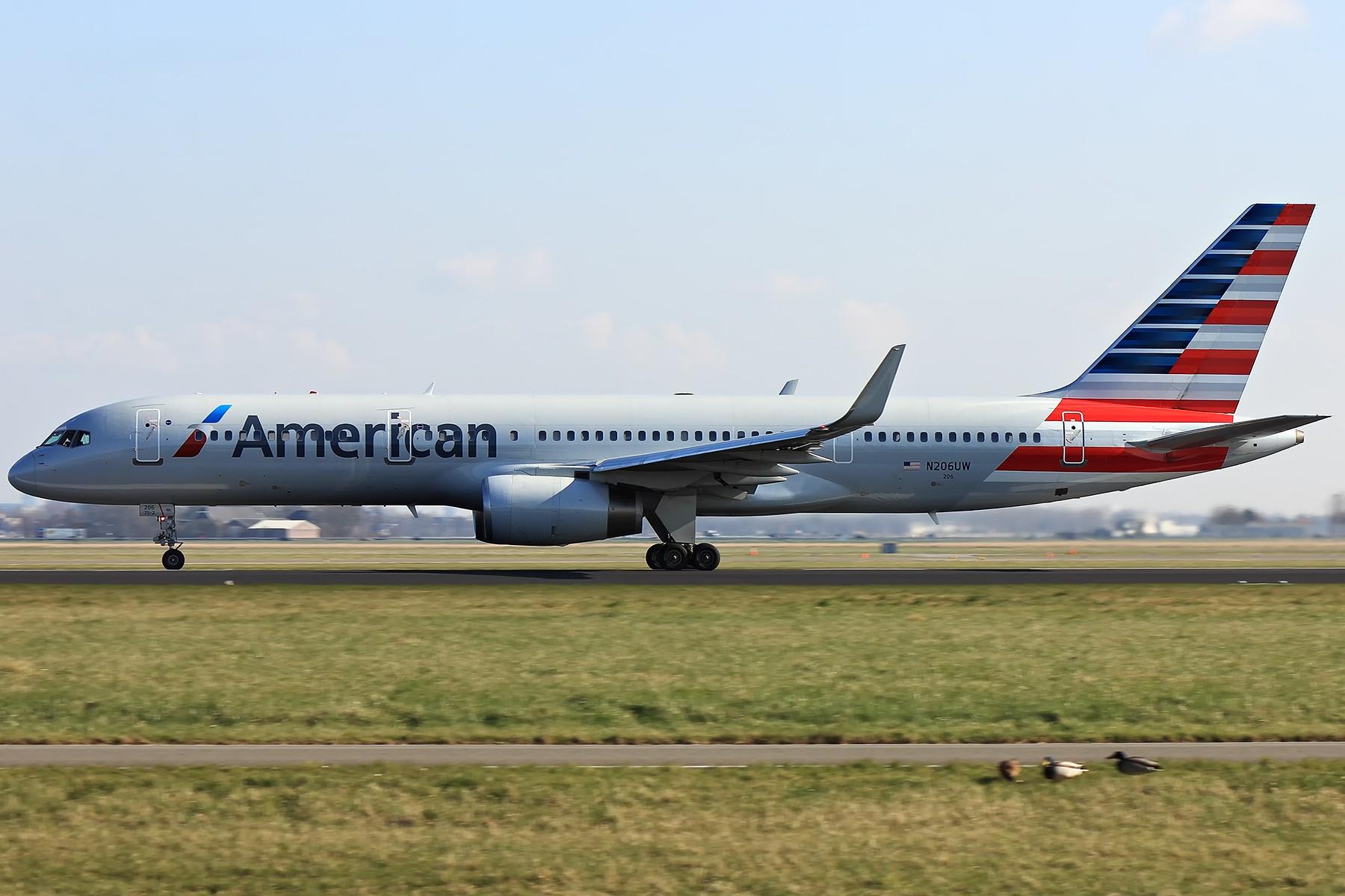 [原创]【AMS】空中美男子和美男子XL BOEING 757-200 N206UW 荷兰阿姆斯特丹史基浦机场