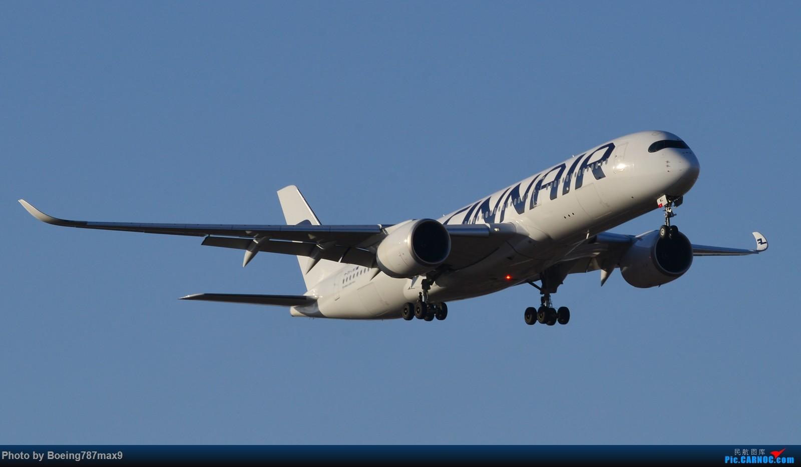 [原创]【PEK】在芬航359停飞北京的前一天,去机场捕获350-900【1600高清大图】 AIRBUS A350-900 OH-LWC 中国北京首都国际机场