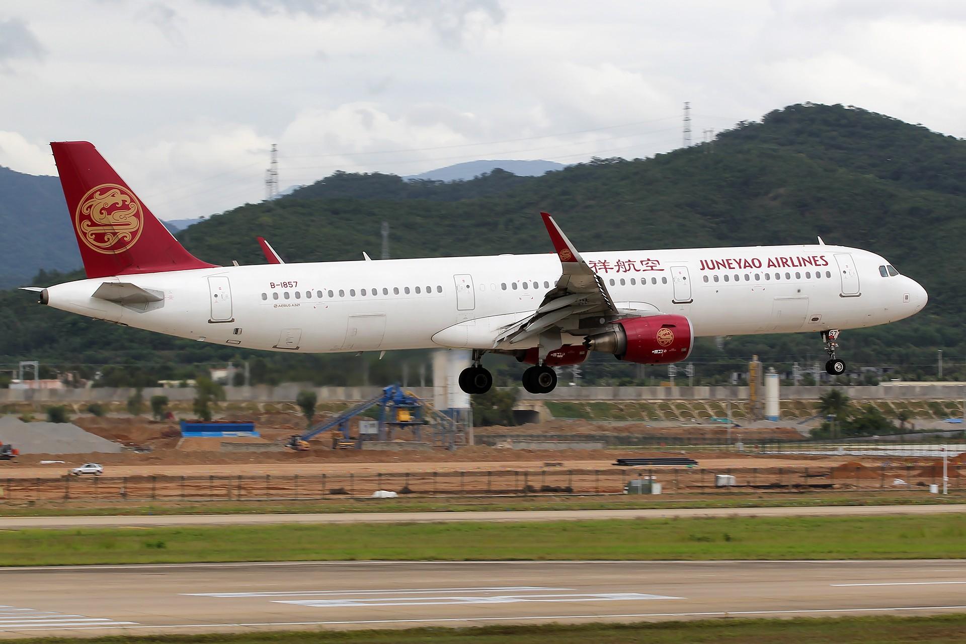 Re:[原创][SYX]香港AND吉祥 AIRBUS A321-200 B-1857 中国三亚凤凰国际机场