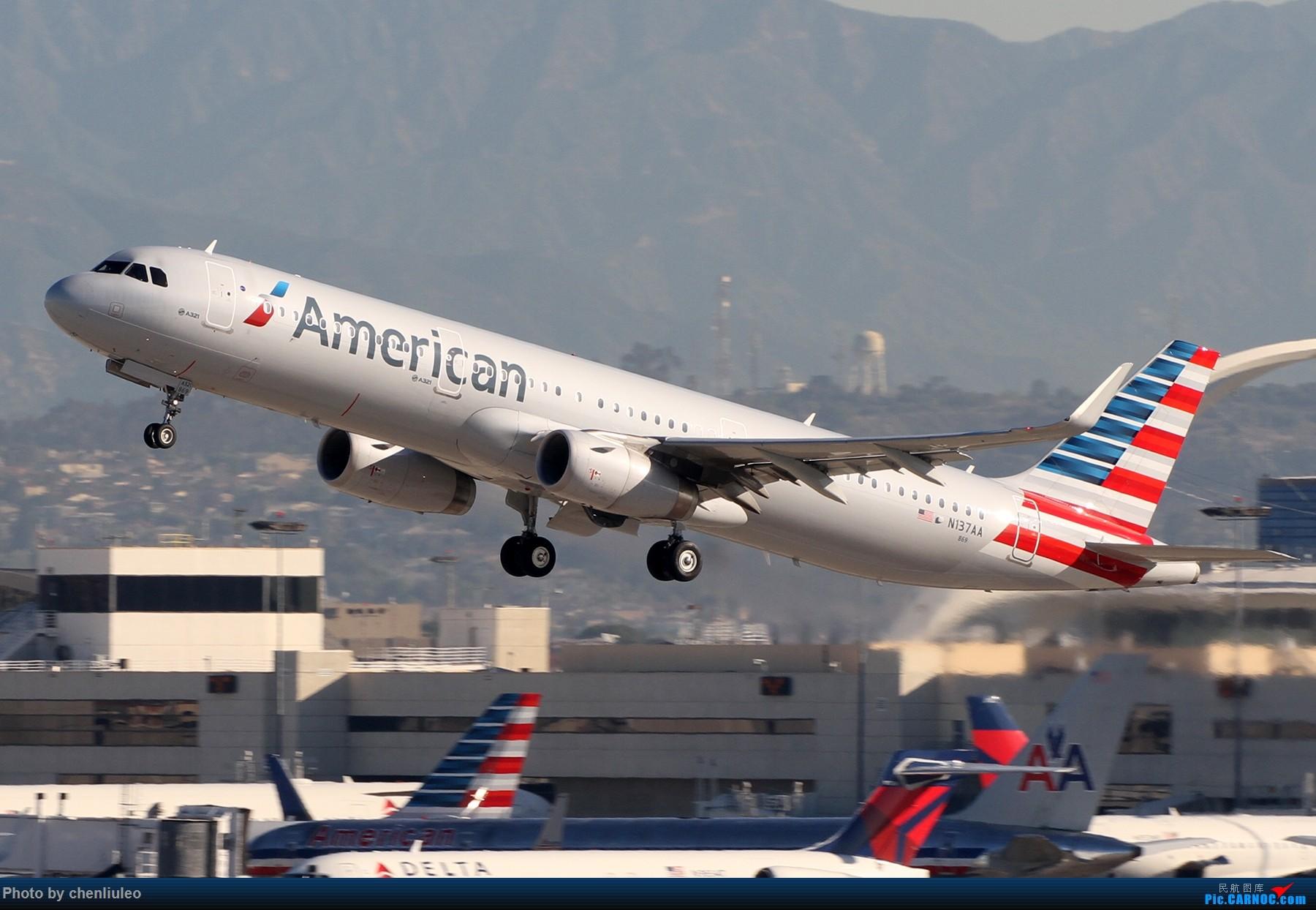 Re:[原创]【北美飞友会】LAX带地景起飞一组 AIRBUS A321-200 N137AA 美国洛杉矶机场