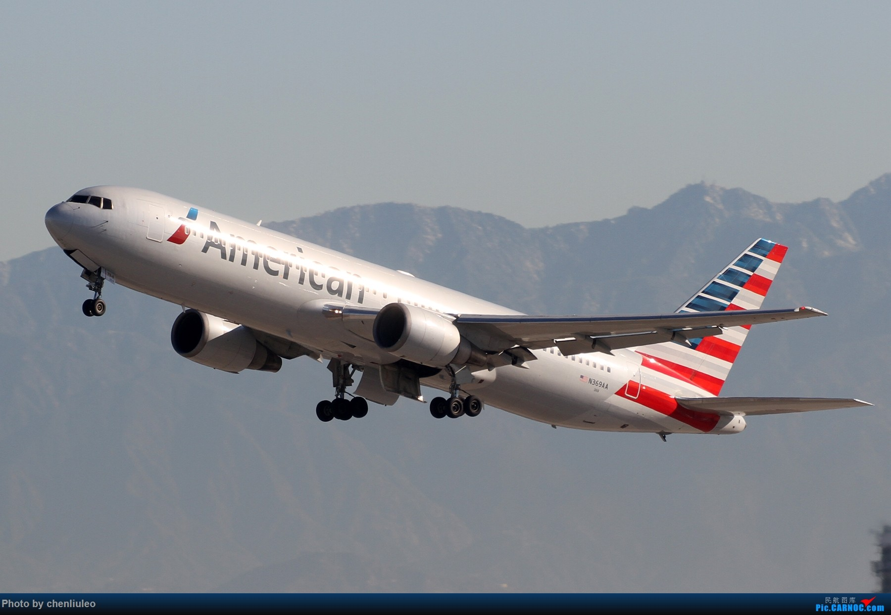 Re:[原创]【北美飞友会】LAX带地景起飞一组 BOEING 767-300ER N369AA 美国洛杉矶机场