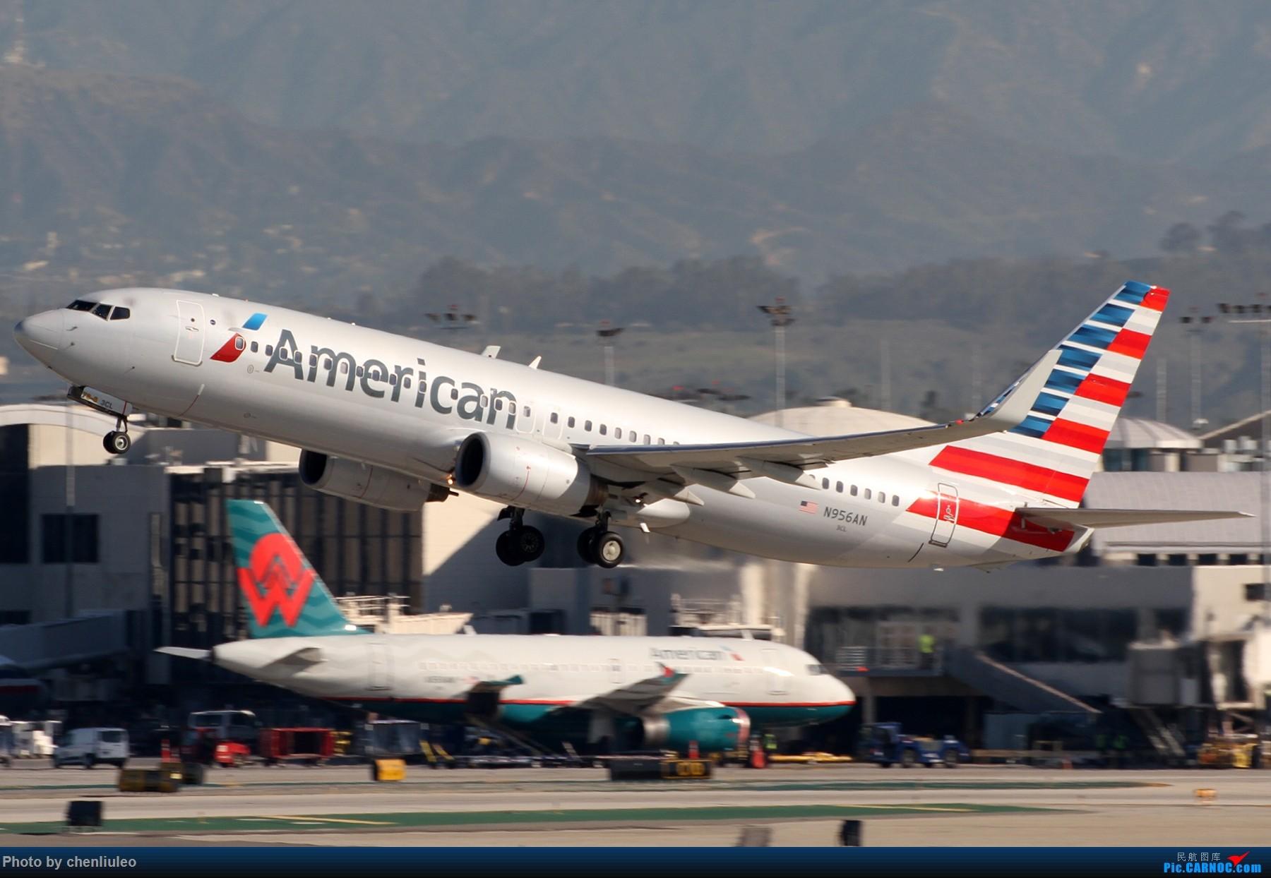 Re:[原创]【北美飞友会】LAX带地景起飞一组 BOEING 737-800 N956AN 美国洛杉矶机场