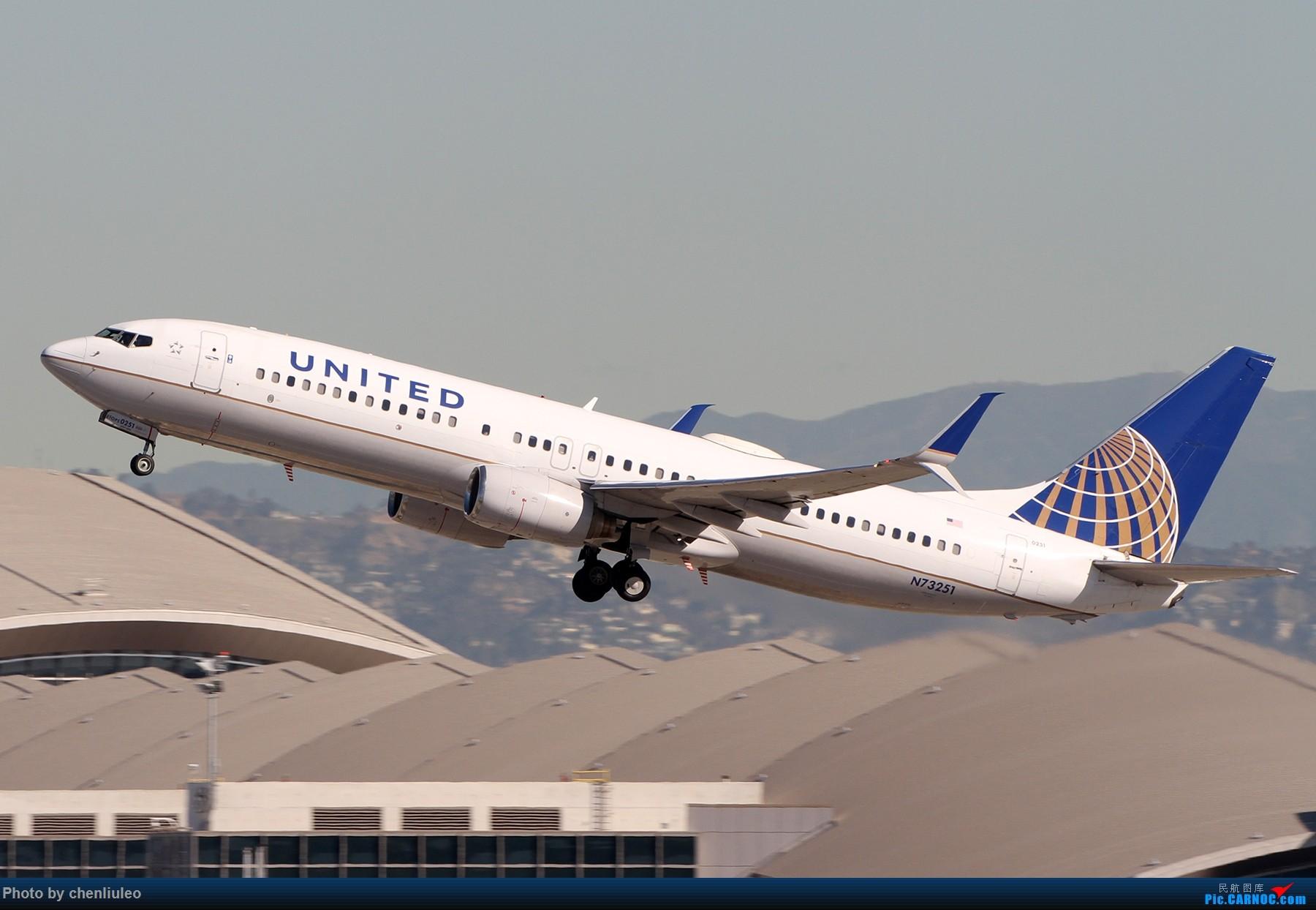 Re:[原创]【北美飞友会】LAX带地景起飞一组 BOEING 737-800 N73251 美国洛杉矶机场