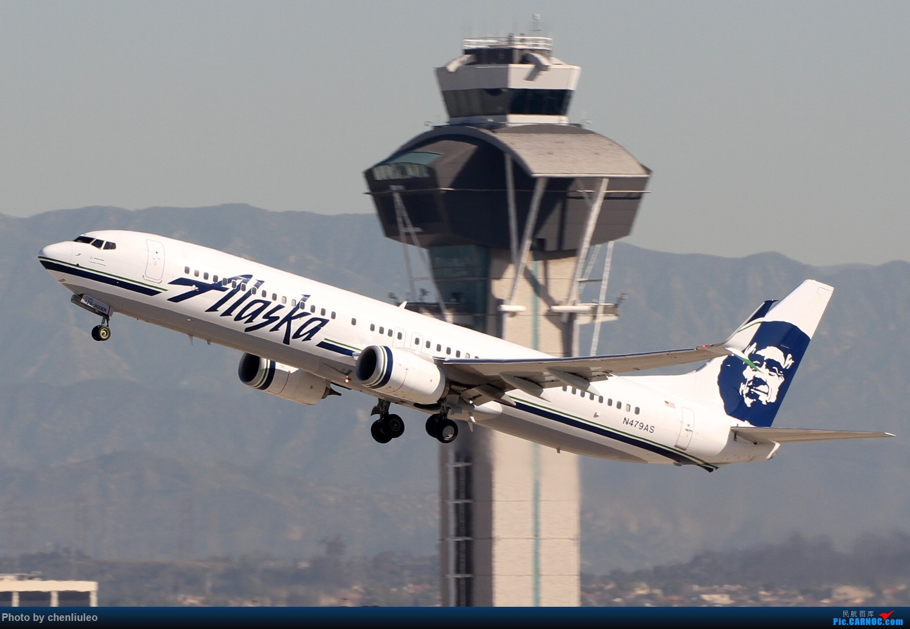 Re:[原创]【北美飞友会】LAX带地景起飞一组 BOEING 737-900ER N479AS 美国洛杉矶机场