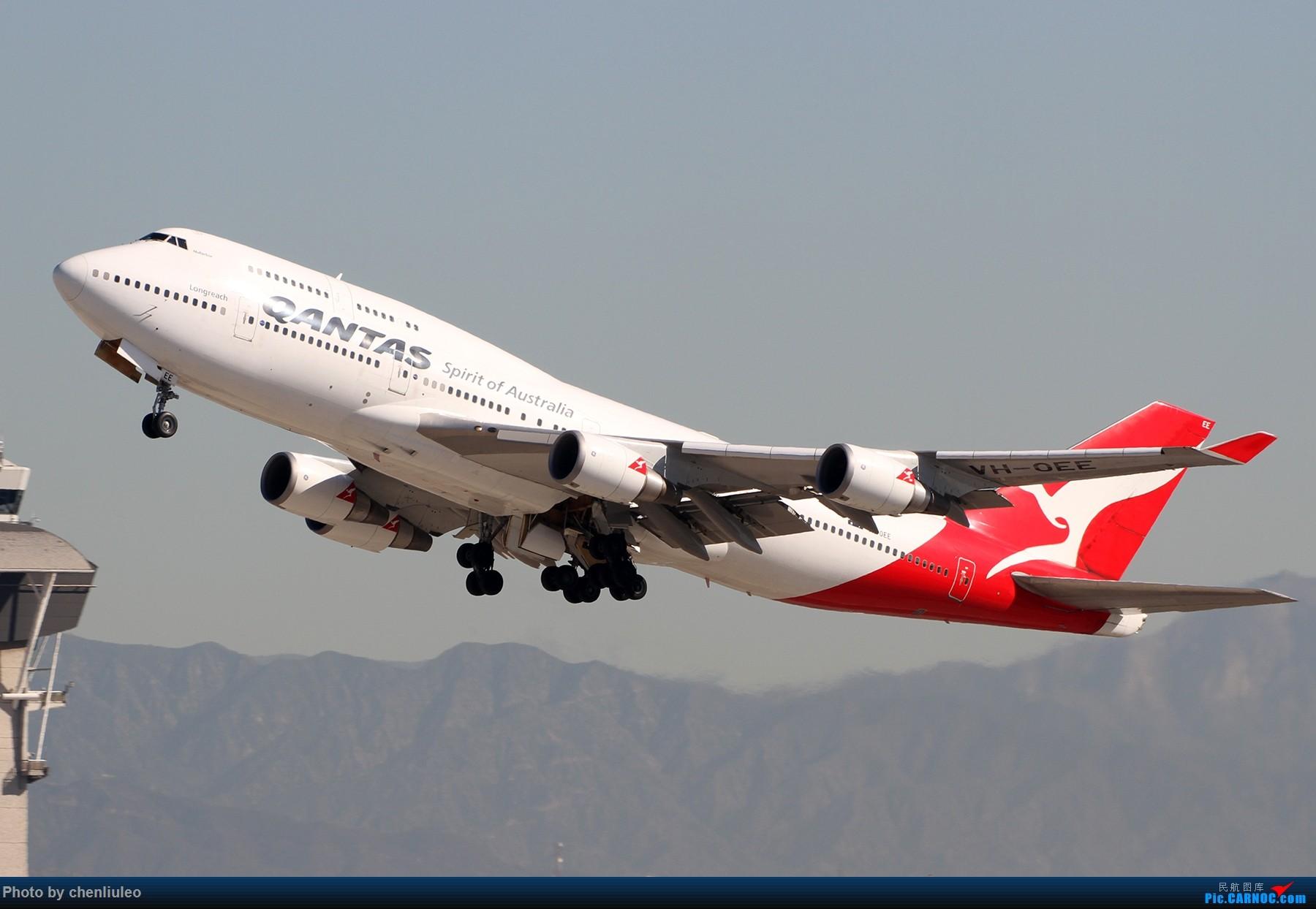 Re:[原创]【北美飞友会】LAX带地景起飞一组 BOEING 747-400ER VH-OEE 美国洛杉矶机场
