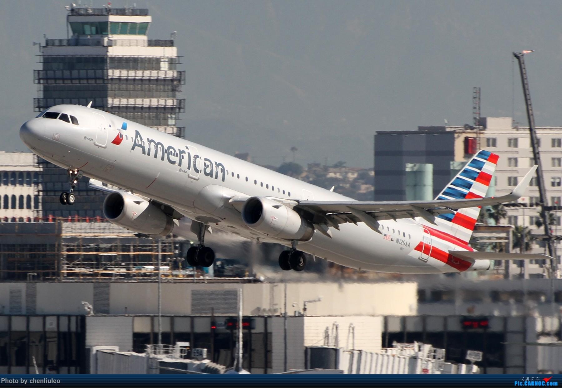 Re:[原创]【北美飞友会】LAX带地景起飞一组 AIRBUS A321-200 N129AA 美国洛杉矶机场