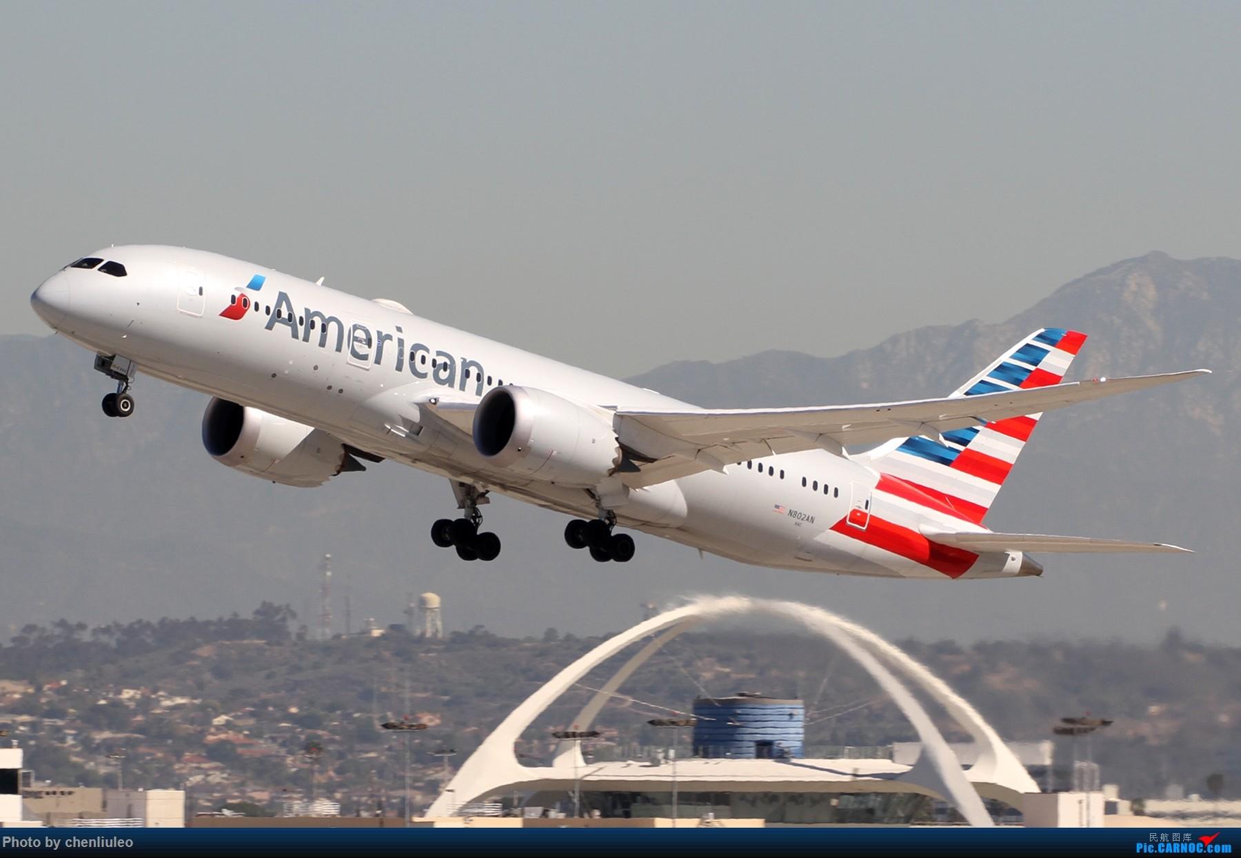 Re:[原创]【北美飞友会】LAX带地景起飞一组 BOEING 787-8 N802AN 美国洛杉矶机场