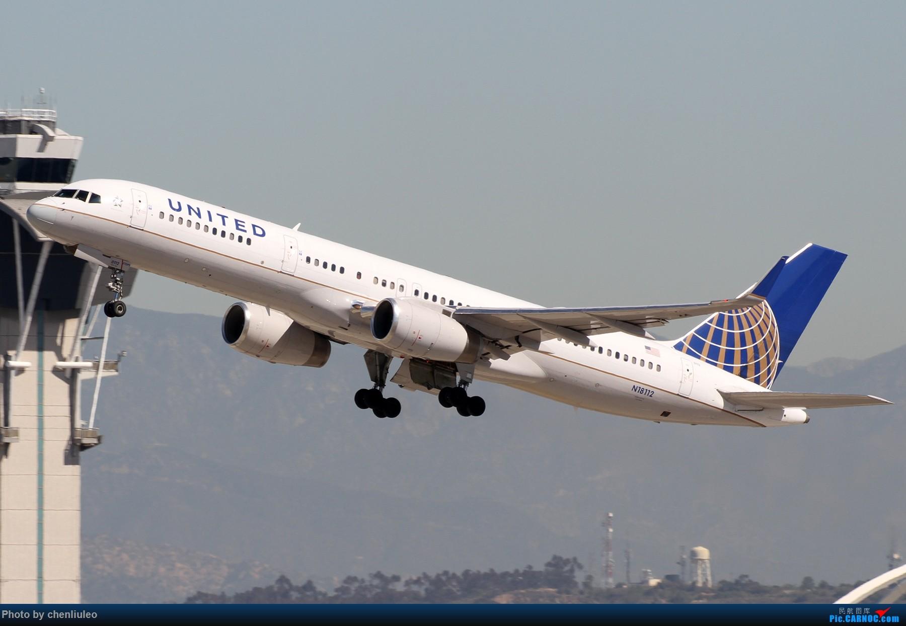 Re:[原创]【北美飞友会】LAX带地景起飞一组 BOEING 757-200 N18112 美国洛杉矶机场