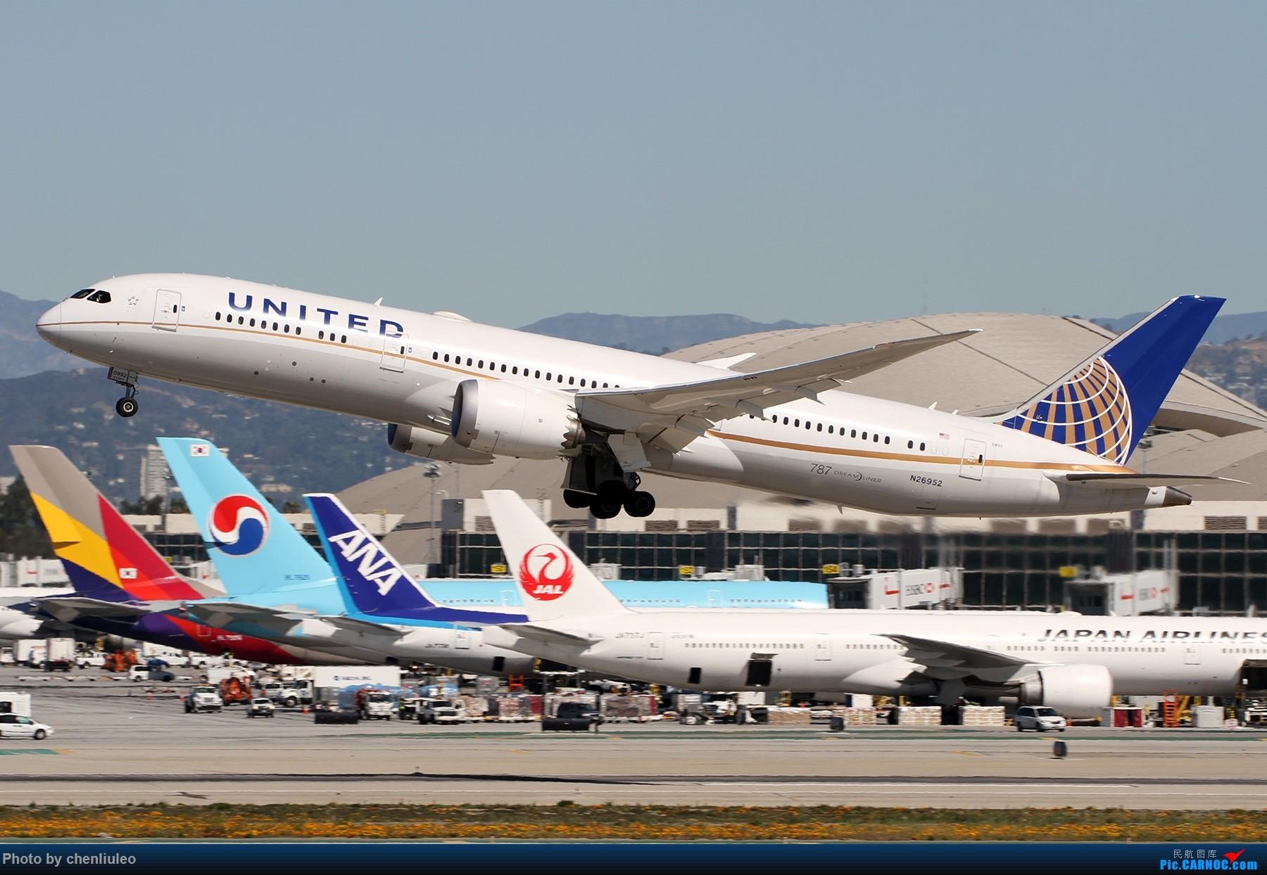 Re:【北美飞友会】LAX带地景起飞一组 BOEING 787-9 N26952 美国洛杉矶机场