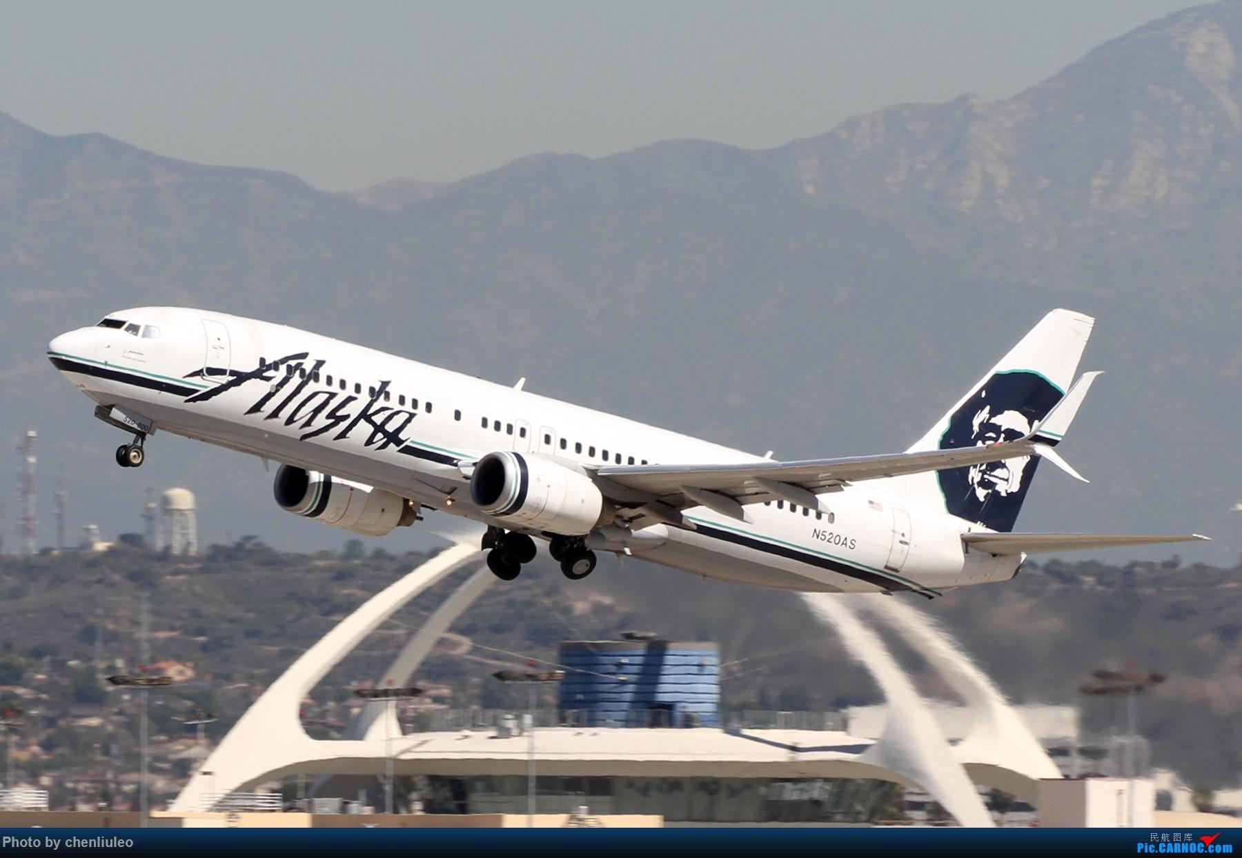 Re:[原创]【北美飞友会】LAX带地景起飞一组 BOEING 737-800 N520AS 美国洛杉矶机场