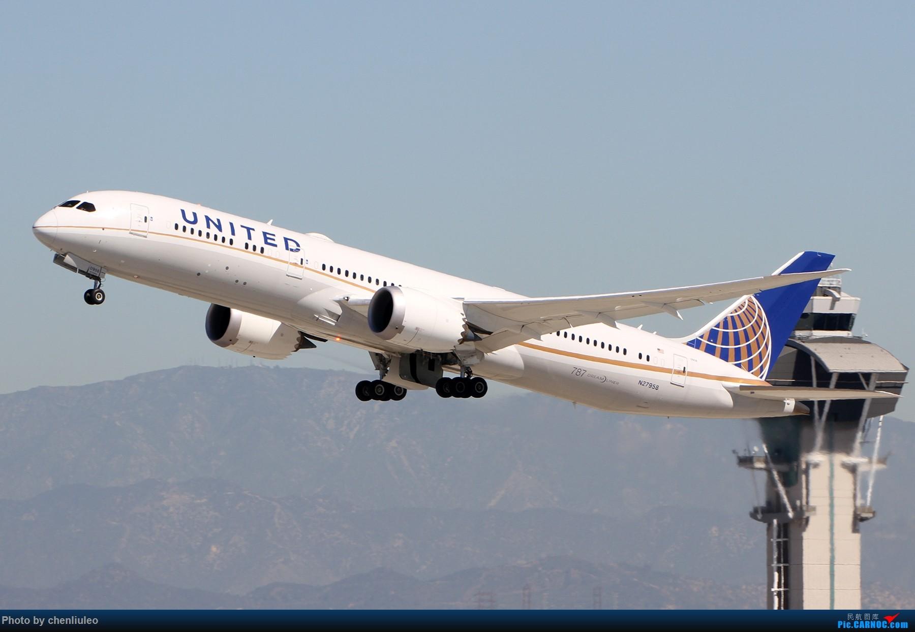 Re:[原创]【北美飞友会】LAX带地景起飞一组 BOEING 787-9 N27958 美国洛杉矶机场