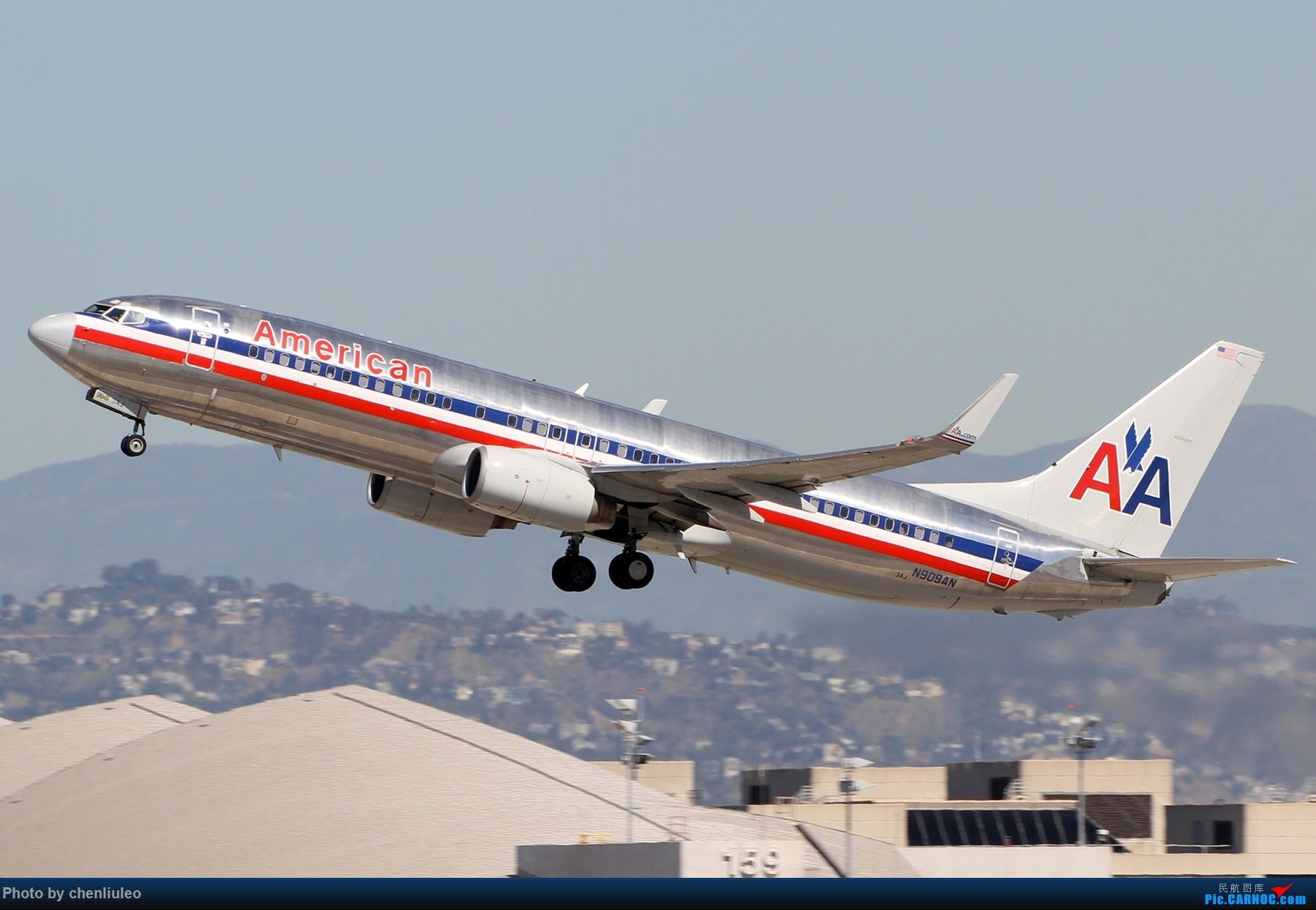 Re:[原创]【北美飞友会】LAX带地景起飞一组 BOEING 737-800 N909AN 美国洛杉矶机场