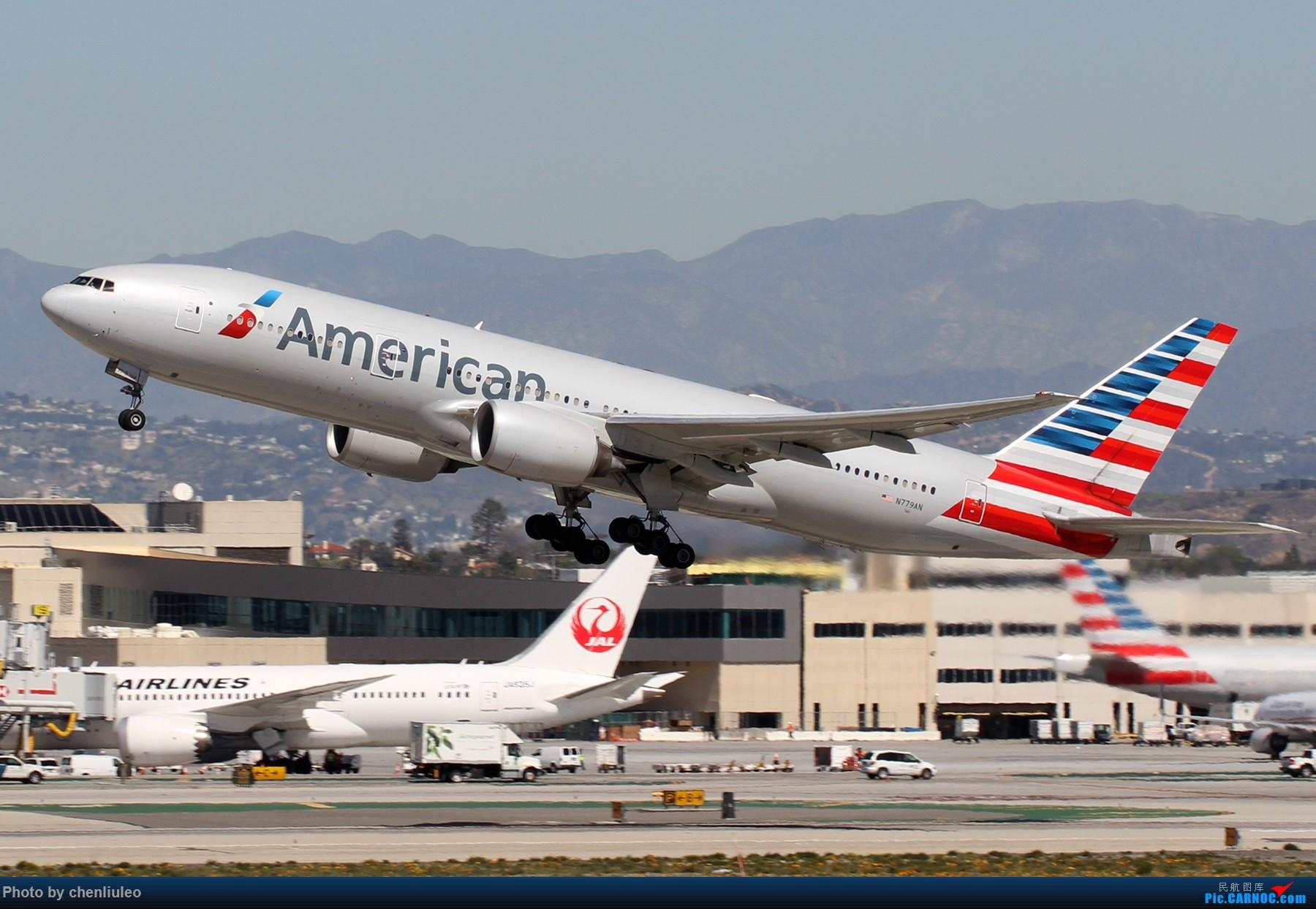 Re:[原创]【北美飞友会】LAX带地景起飞一组 BOEING 777-200ER N779AN 美国洛杉矶机场