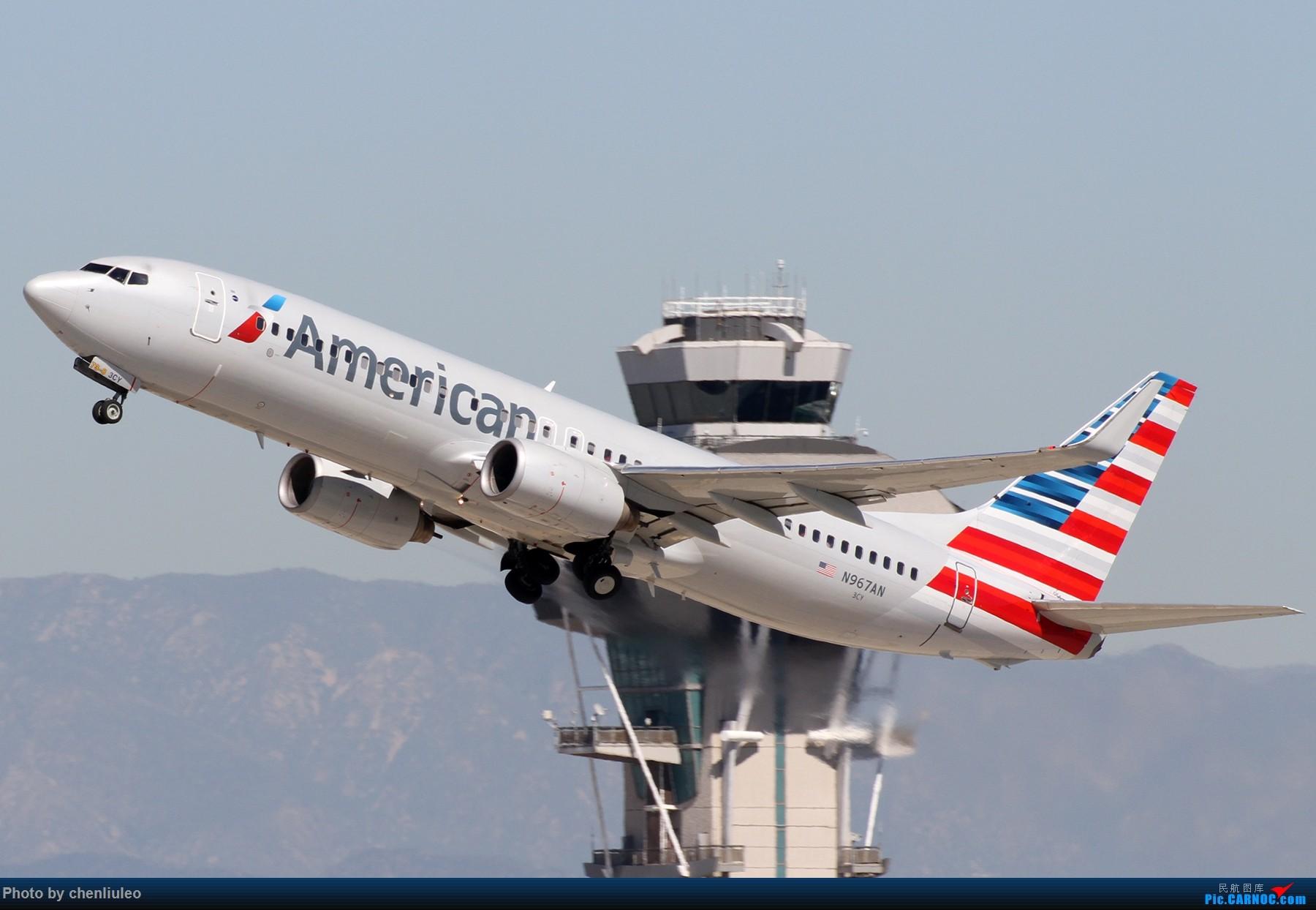 Re:[原创]【北美飞友会】LAX带地景起飞一组 BOEING 737-800 N967AN 美国洛杉矶机场