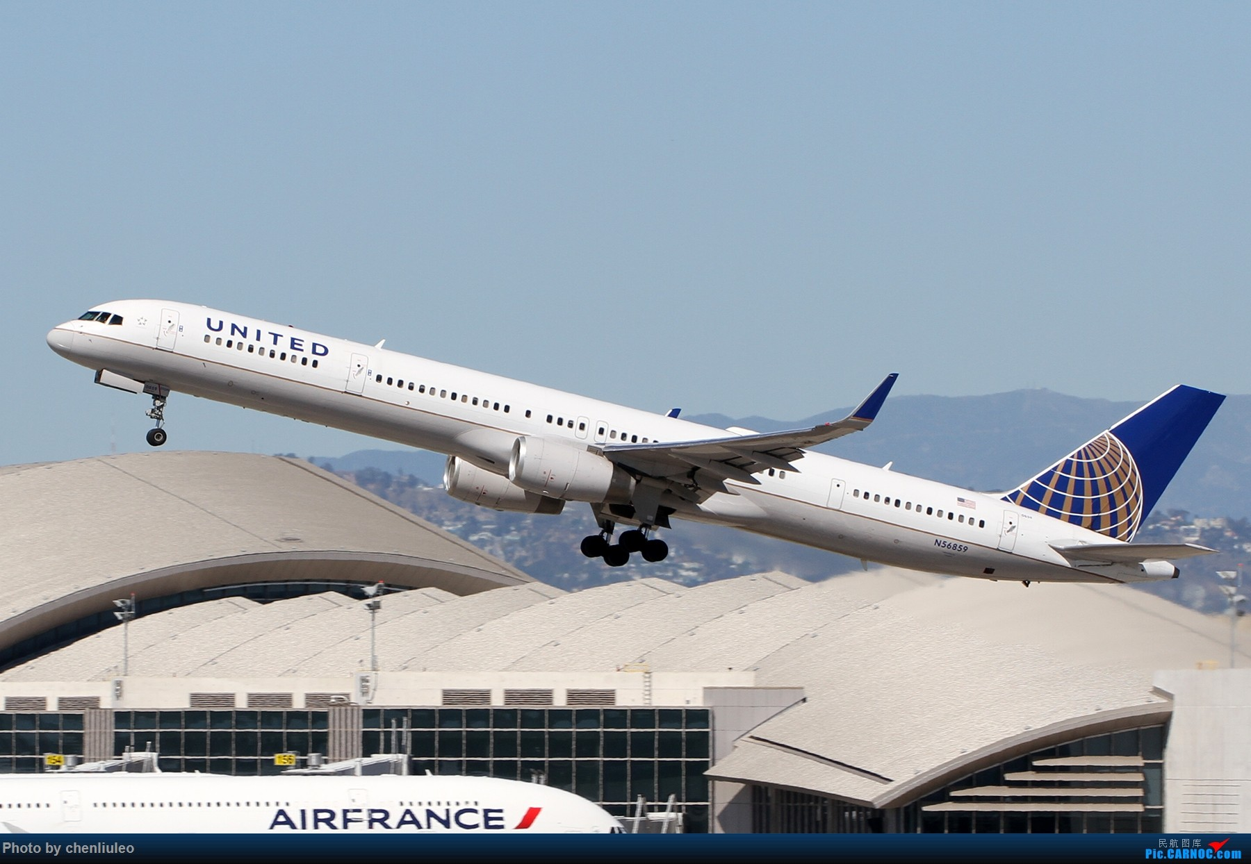Re:【北美飞友会】LAX带地景起飞一组 BOEING 757-300 N56859 美国洛杉矶机场