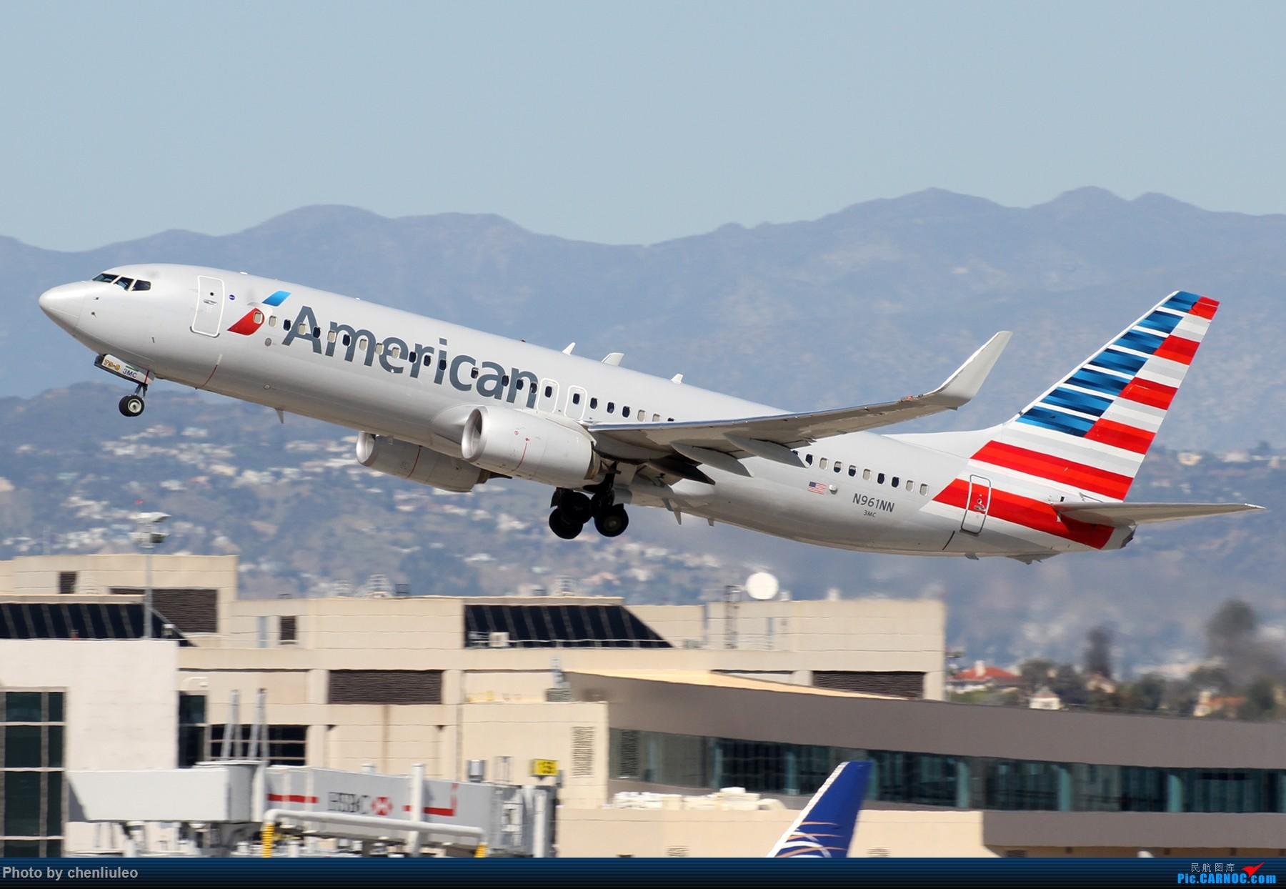 Re:[原创]【北美飞友会】LAX带地景起飞一组 BOEING 737-800 N961NN 美国洛杉矶机场