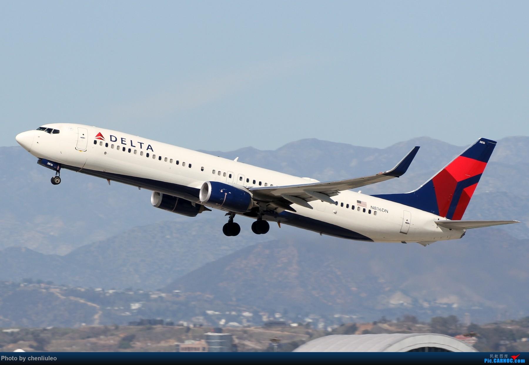 Re:[原创]【北美飞友会】LAX带地景起飞一组 BOEING 737-900ER N816DN 美国洛杉矶机场