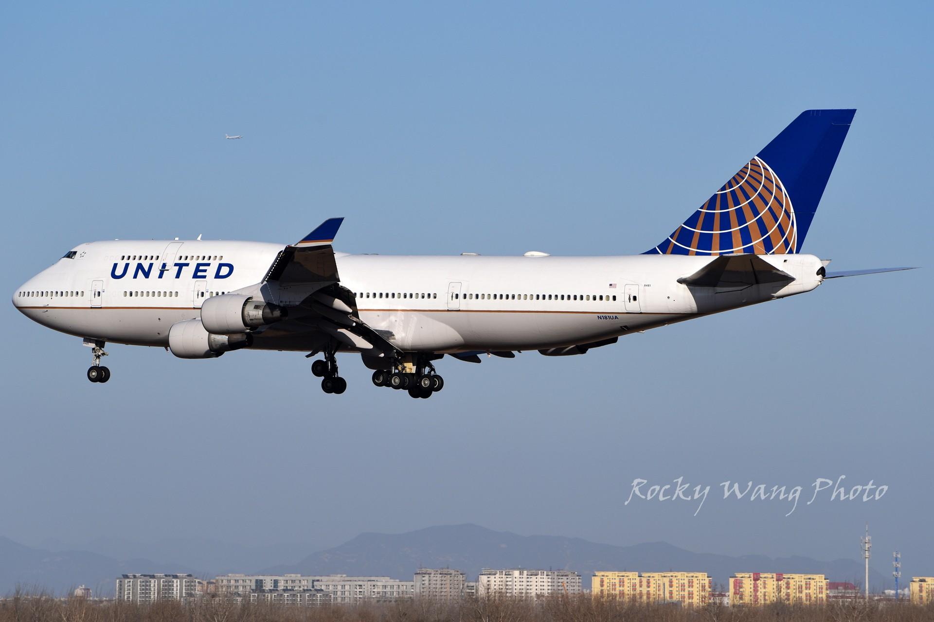 Re:[原创]杂图20张 BOEING 747-400 N181UA 中国北京首都国际机场