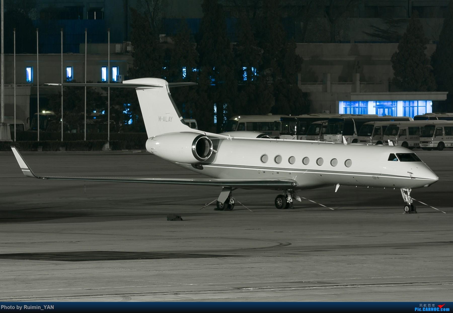 [原创]【PEK飞友会】Stonefel Trade & Invest--Gulfstream Aerospace G550 GULFSTREAM G550 M-ALAY 中国北京首都国际机场