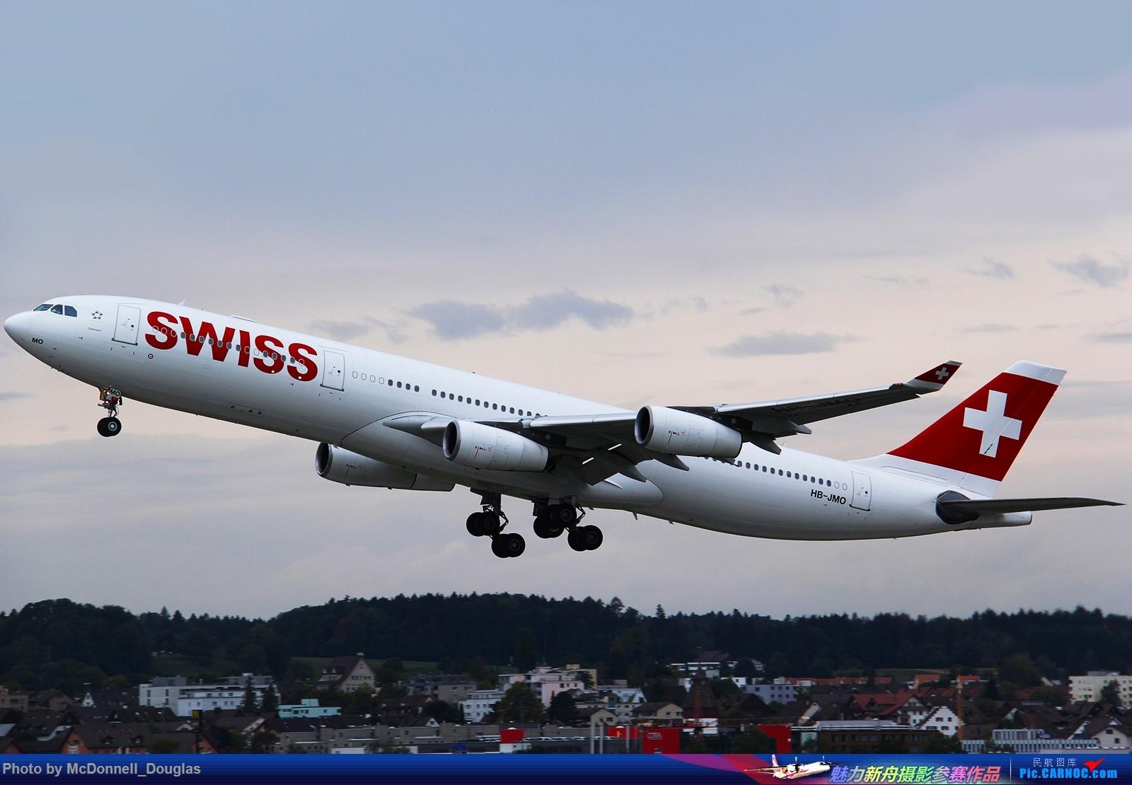 Re:[原创]【上海飞友会】一图 Swissair的5apu @LSZH AIRBUS A340-313X HB-JMO 瑞士苏黎世机场